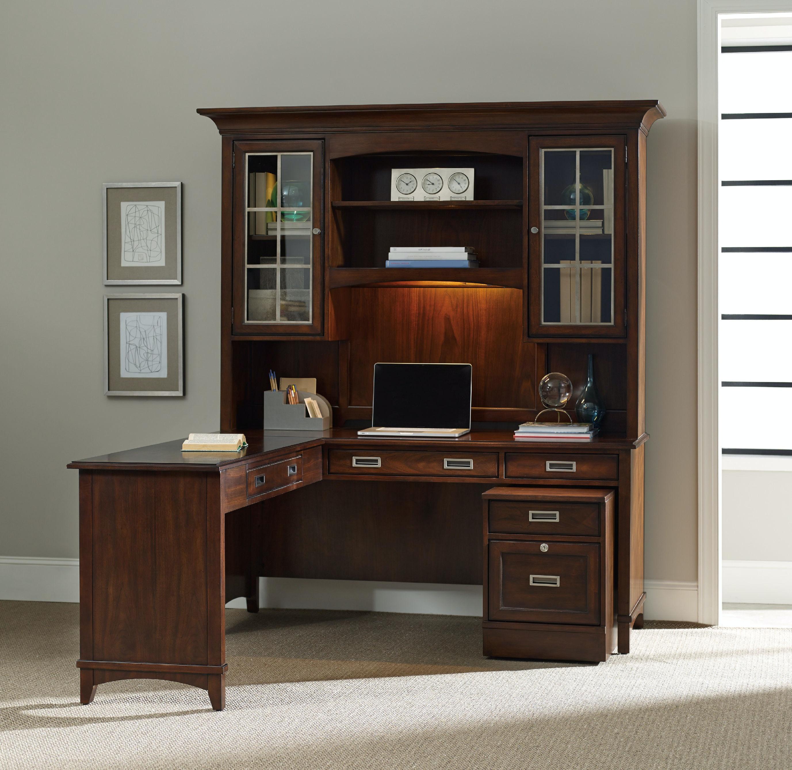 hooker furniture home office latitude computer credenza/desk hutch