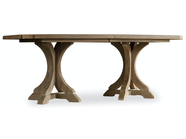 Hooker Furniture Corsica Rectangle Pedestal Dining Table w/2-20in Leaves 5180-75206
