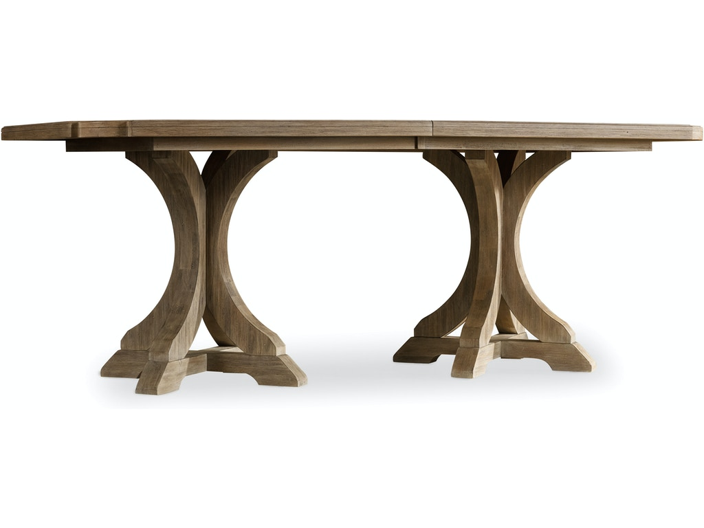 Hooker Furniture Dining Room Corsica Rectangle Pedestal Dining Table  w/2-20in Leaves 5180-75206