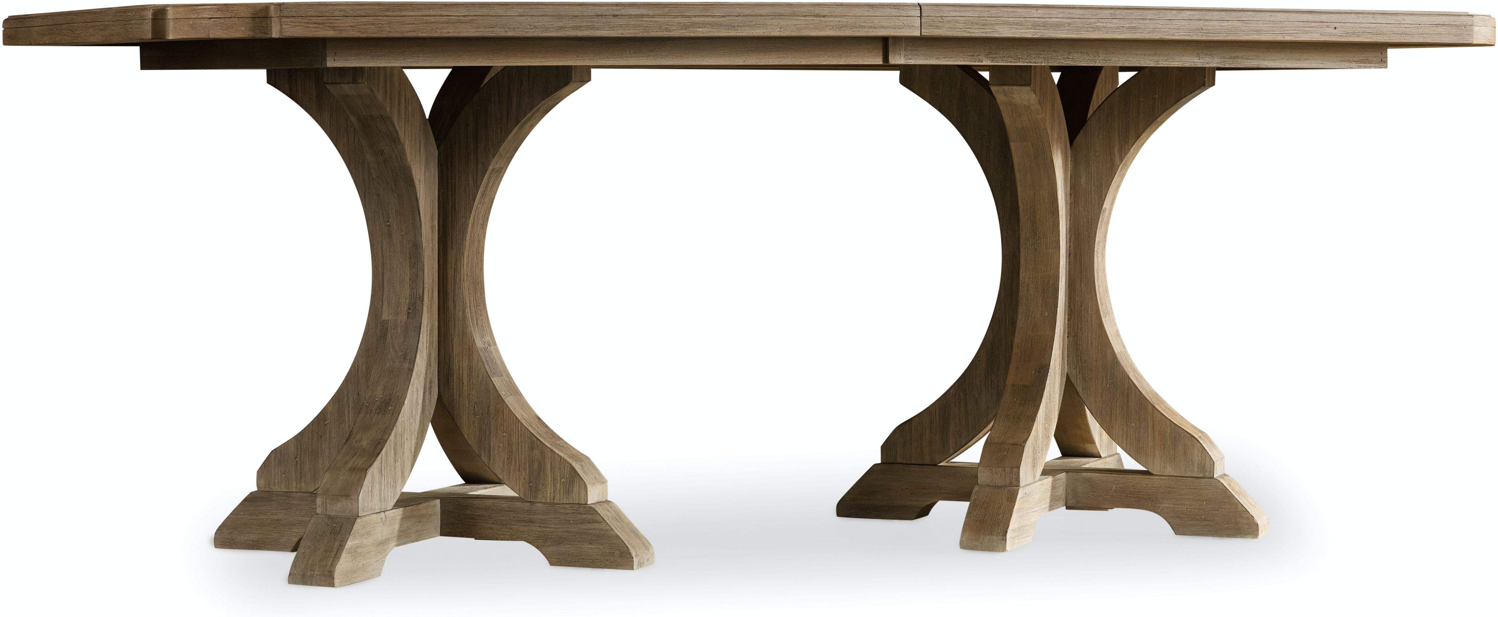Wood Dining Tables With Leaves hooker furniture dining room corsica rectangle pedestal dining
