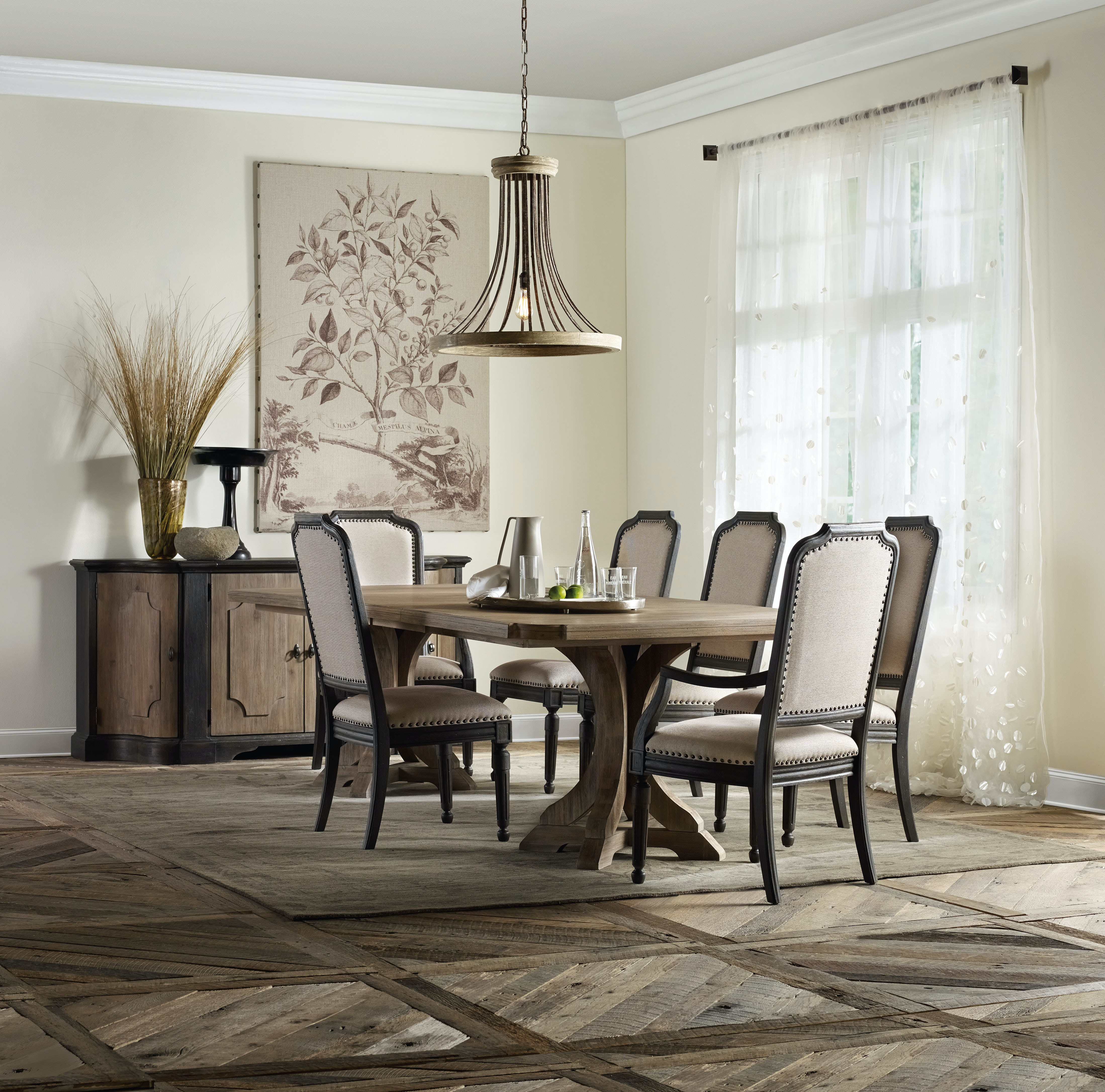 Dining Table With 2 Chairs Hooker Furniture Dining Room Corsica Rectangle Pedestal Dining