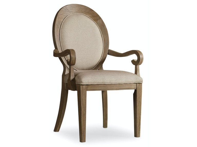 Hooker Furniture Corsica Oval Back Arm Chair 5180-75402
