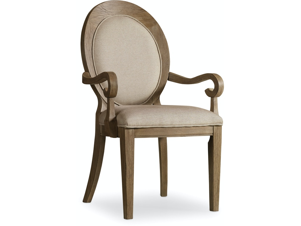 Hooker Furniture Dining Room Corsica Oval Back Arm Chair