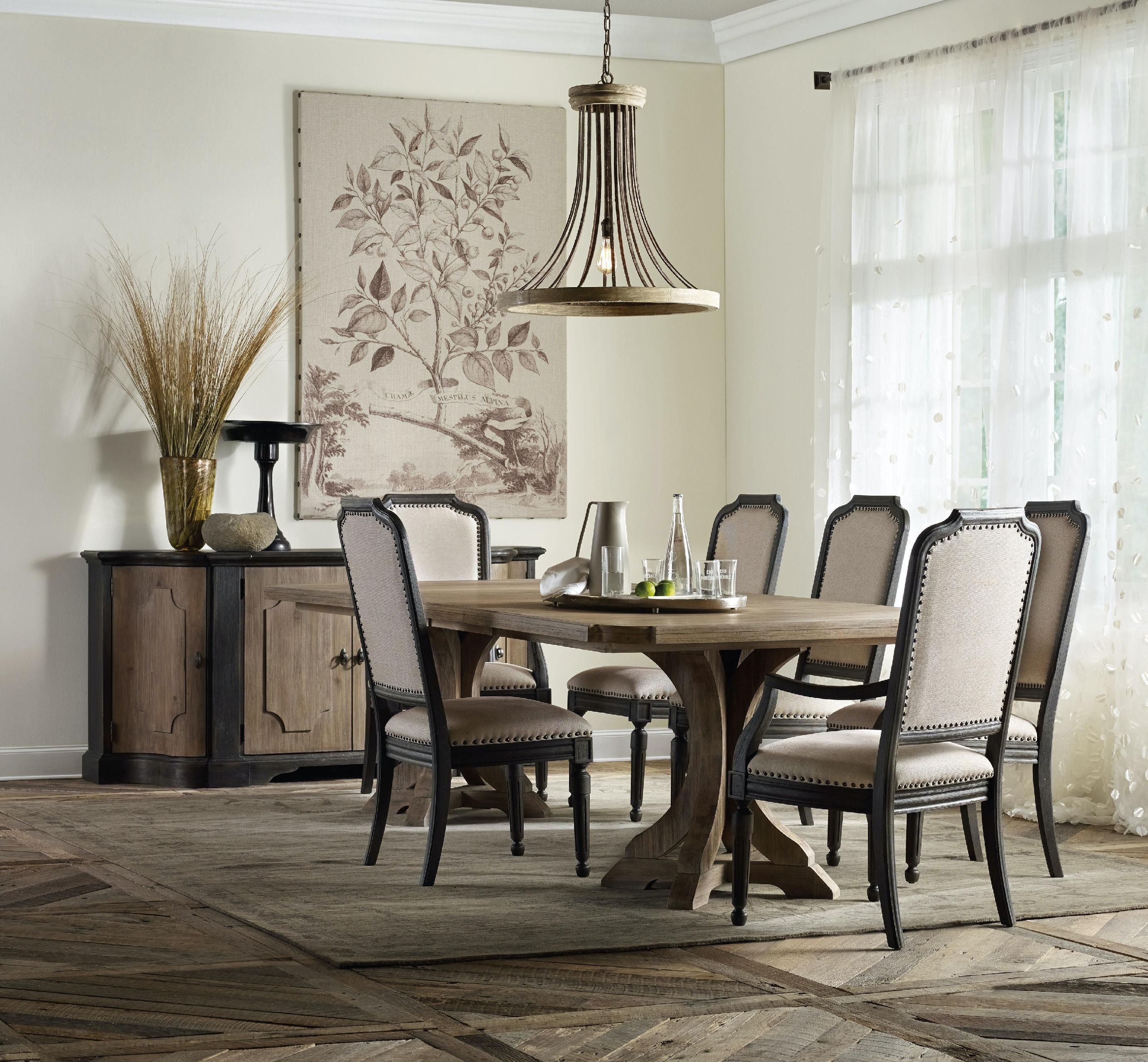 Hooker Furniture Dining Room Corsica Dark Upholstered Side