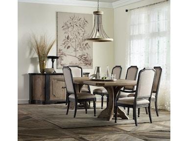 Hooker Furniture Dining Room Corsica Dark Upholstered Arm