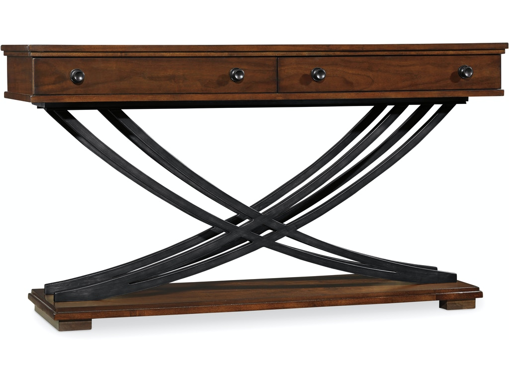 Hillsdale furniture living room monaco coffee table 4142 880 hooker furniture 5183 80161 palisade cross base console table geotapseo Gallery