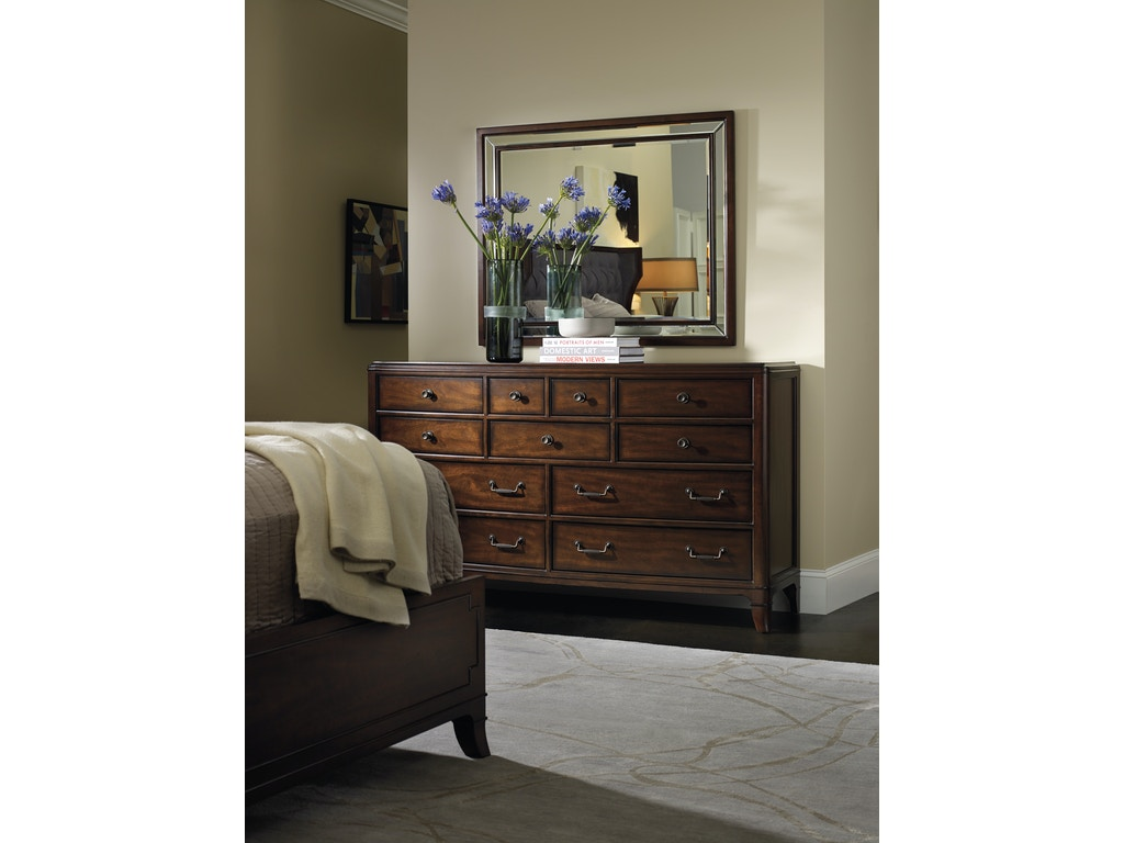 Hooker Furniture Bedroom Palisade Landscape Mirror 5183 90008 Charter Furniture Dallas Fort