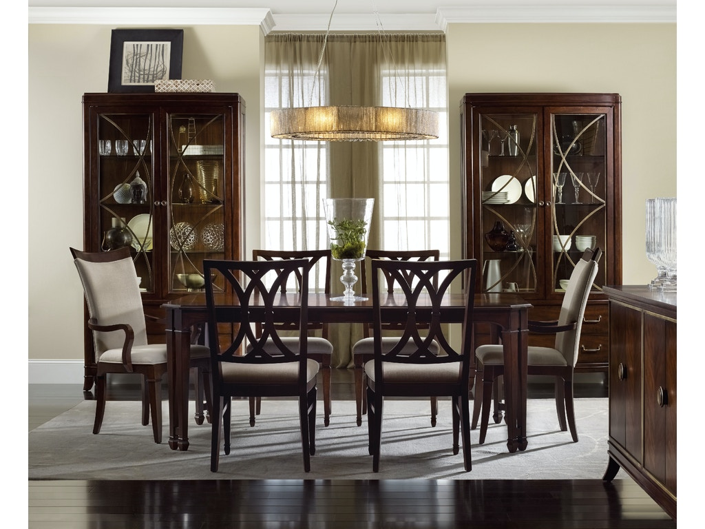 hooker furniture dining room palisade splat back side