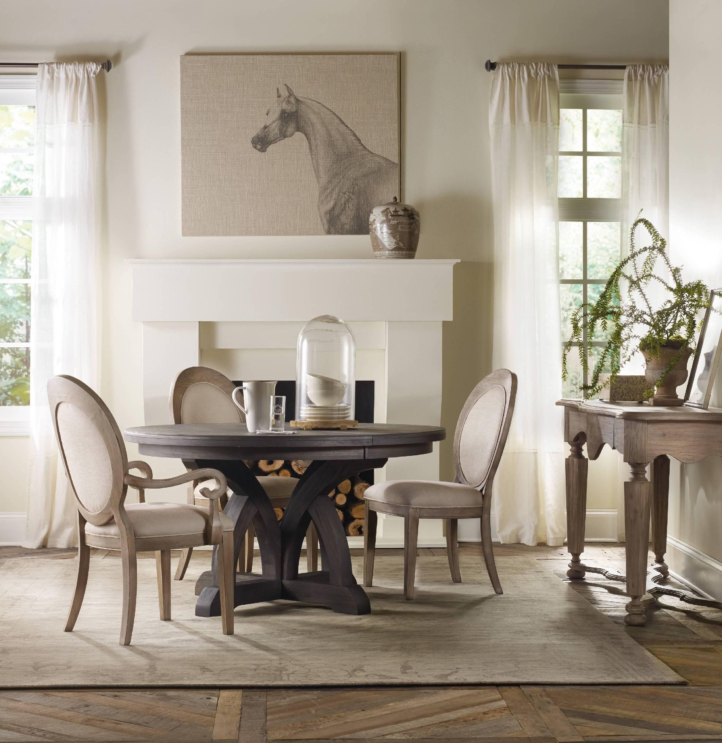 Hooker Furniture Dining Room Corsica Dark Round Dining Table W - Hooker corsica dining table