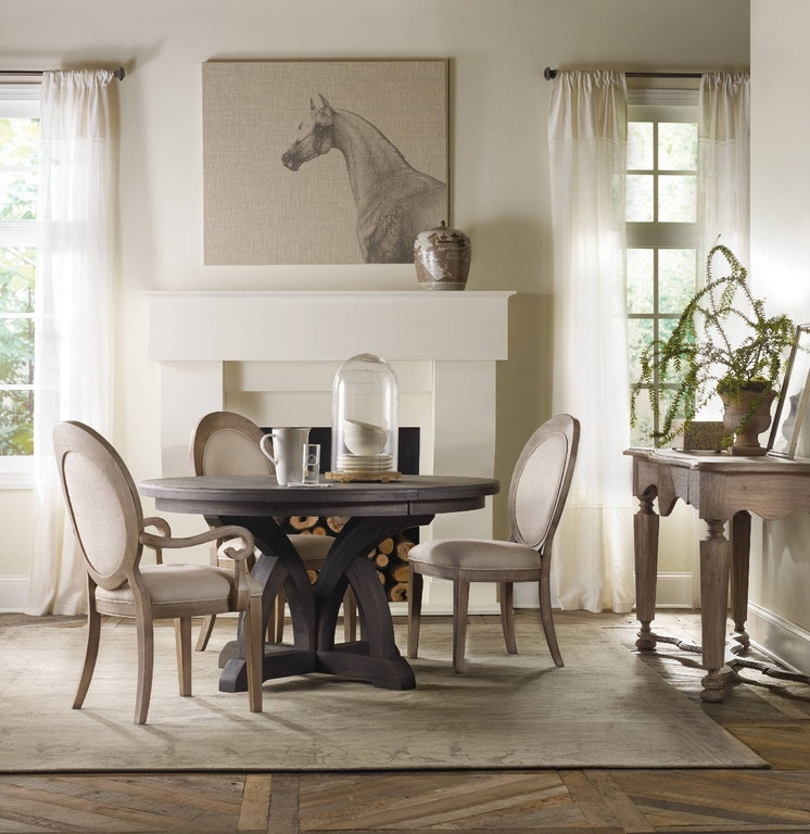 The Circular Dining Room: Hooker Furniture Dining Room Corsica Dark Round Dining