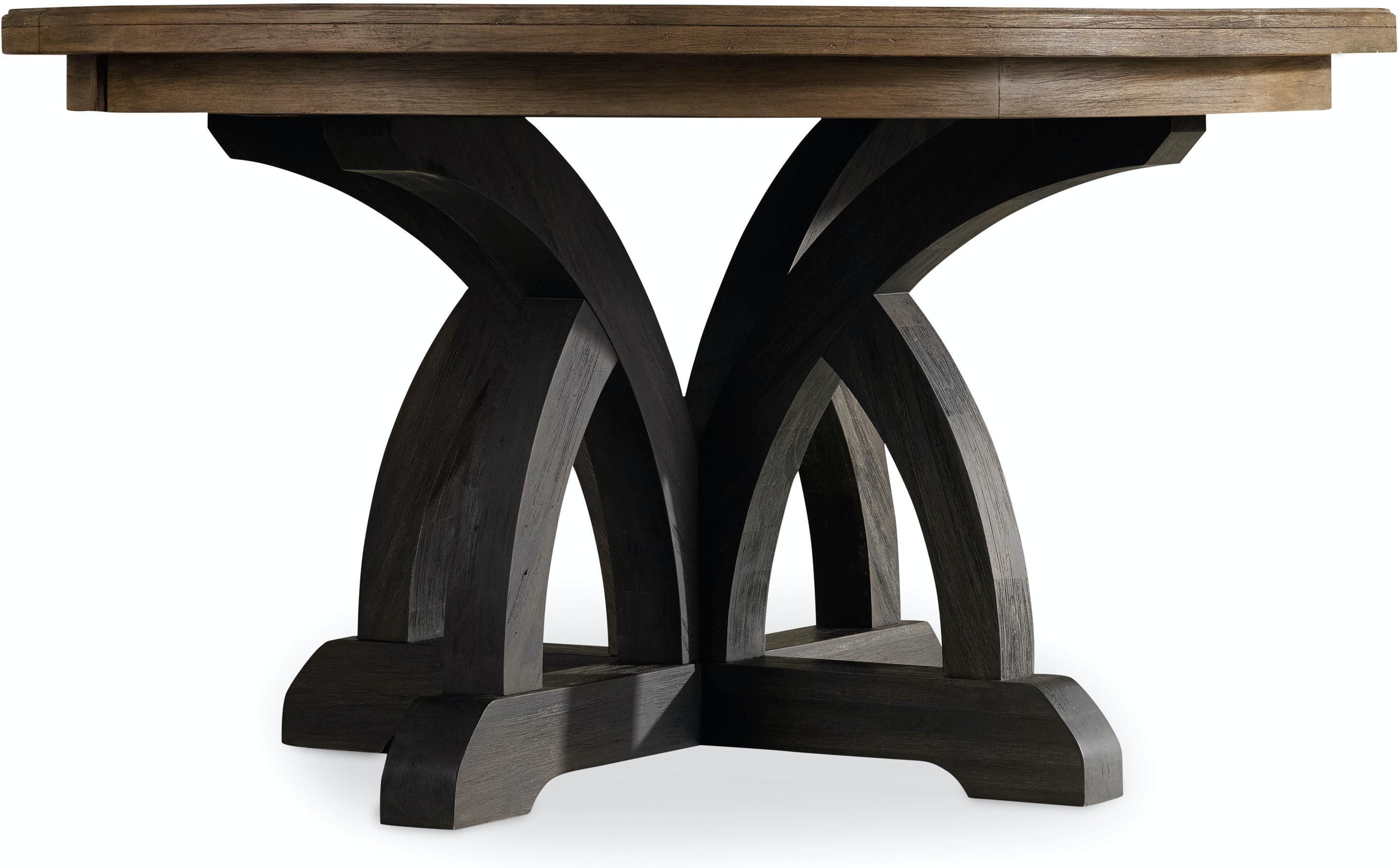 hooker furniture dining room corsica dark round dining table dark hooker furniture corsica dark round dining table dark base light top 5280
