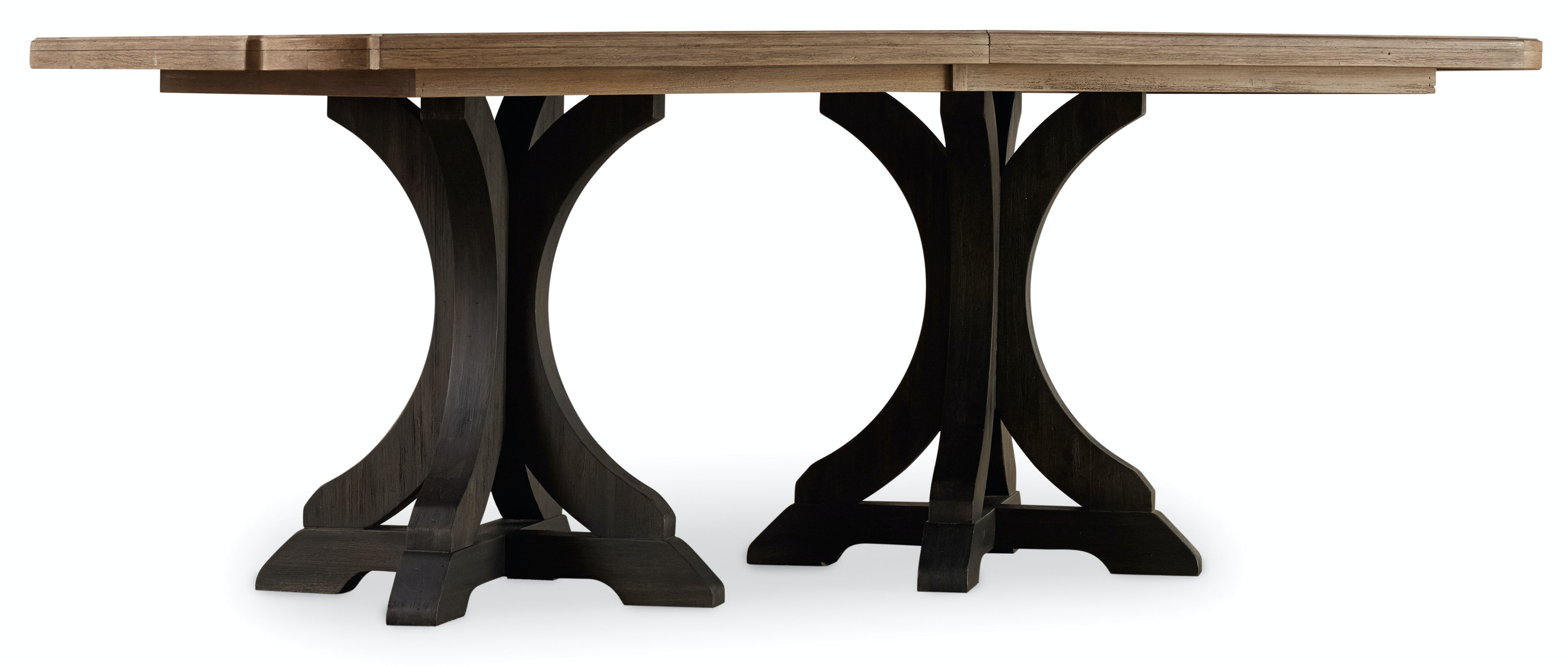Hooker Furniture Corsica Dark Rectangle Pedestal Dining Table (Dark  Base/Light Top) 5280