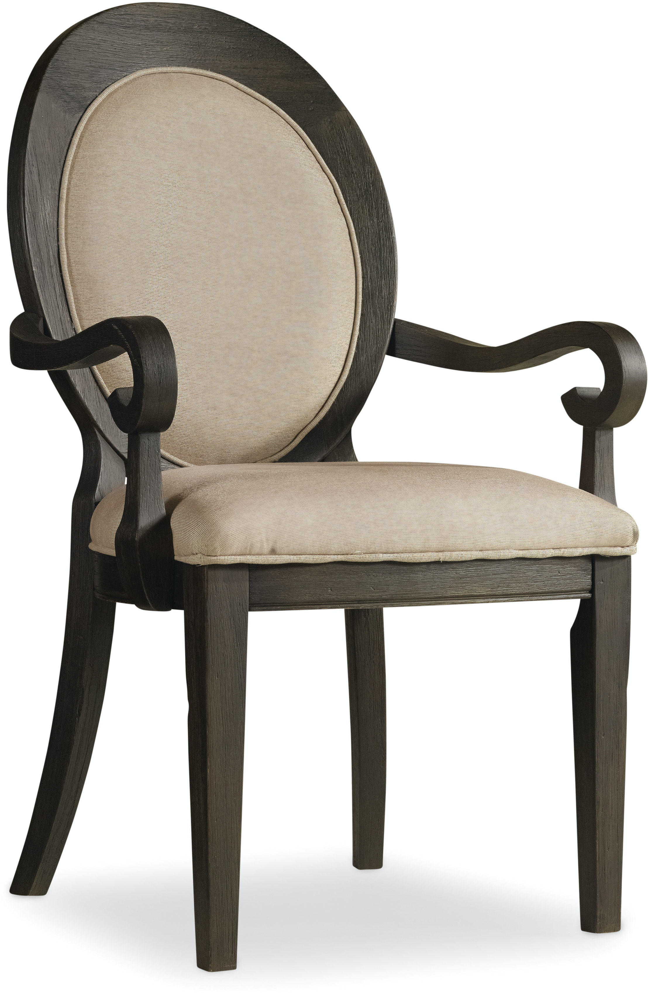Hooker Furniture Dining Room Corsica Dark Oval Back Arm Chair 5280