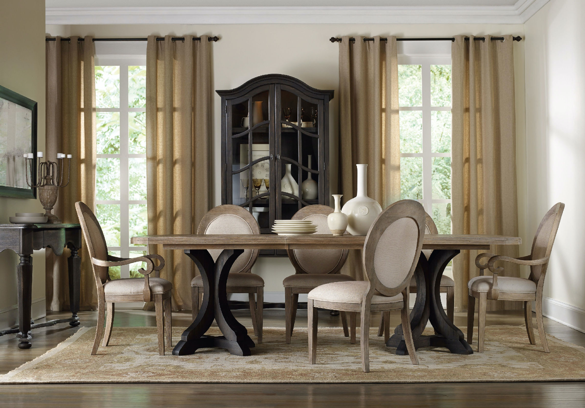 oval back dining chair. Hooker Furniture Corsica Oval Back Arm Chair 5180-75402 Dining