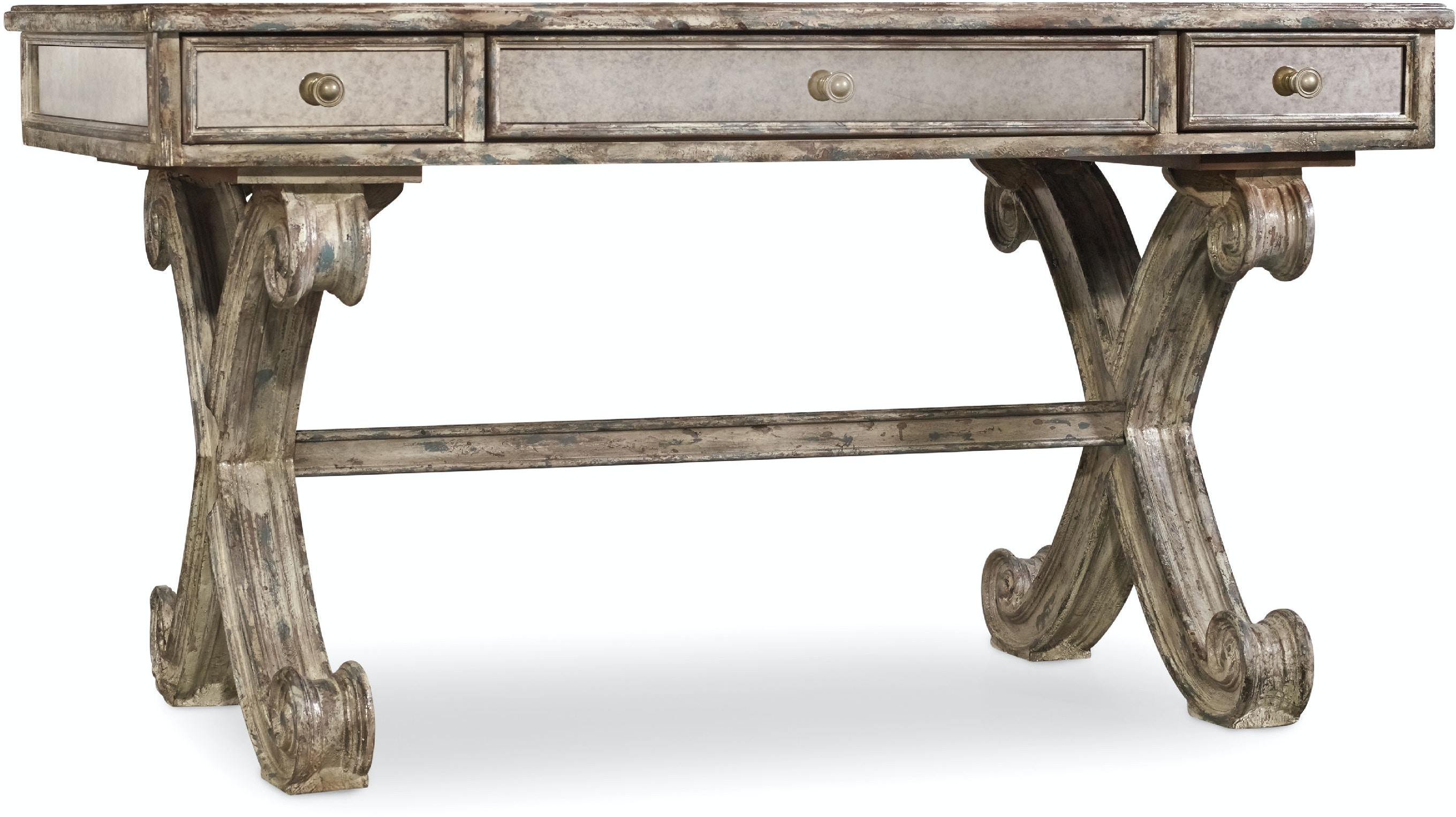 Hooker Furniture Home Office Mirrored Writing Desk 5281