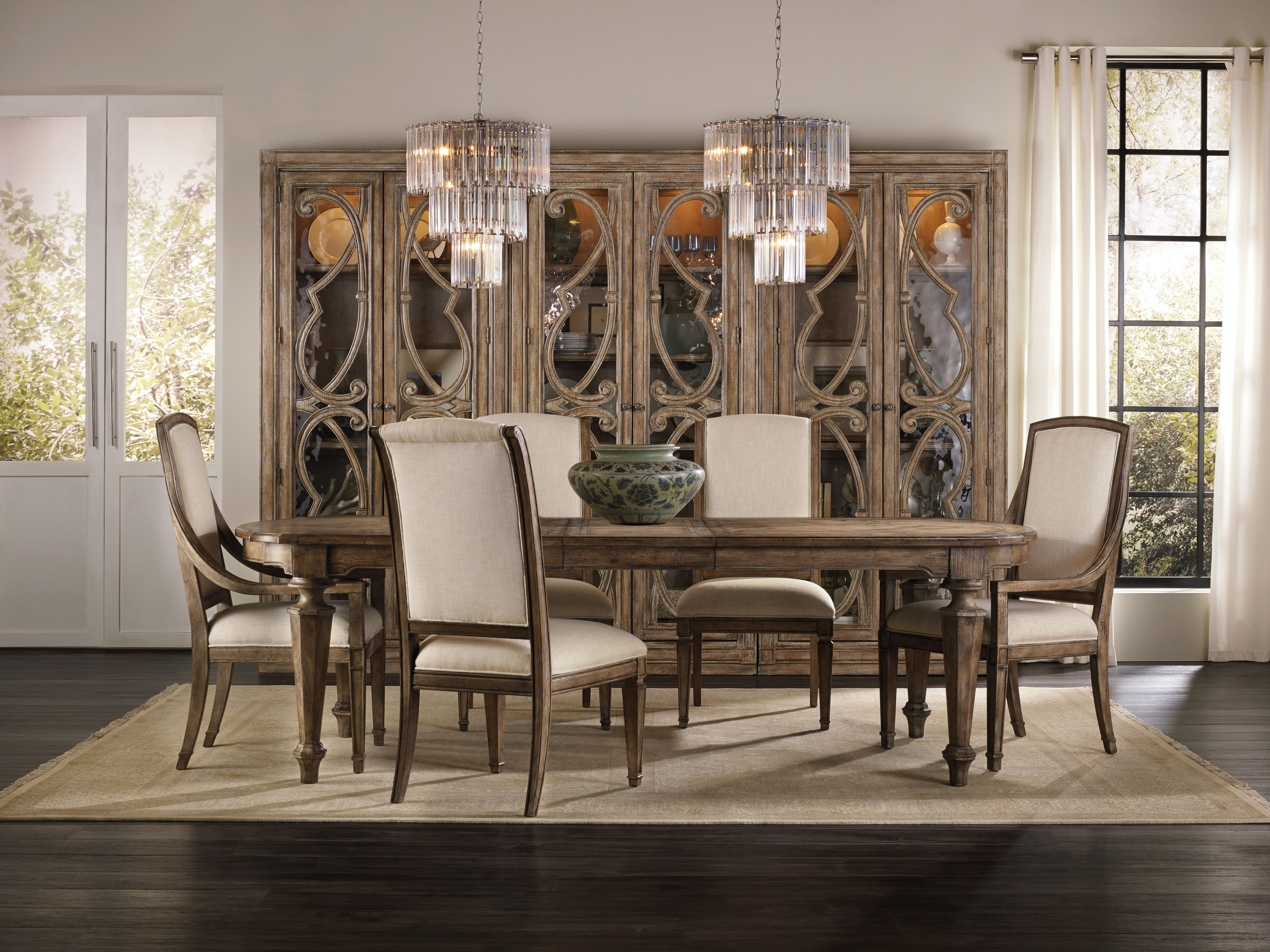 Hooker Furniture Dining Room Solana Rectangle Dining Table w 2