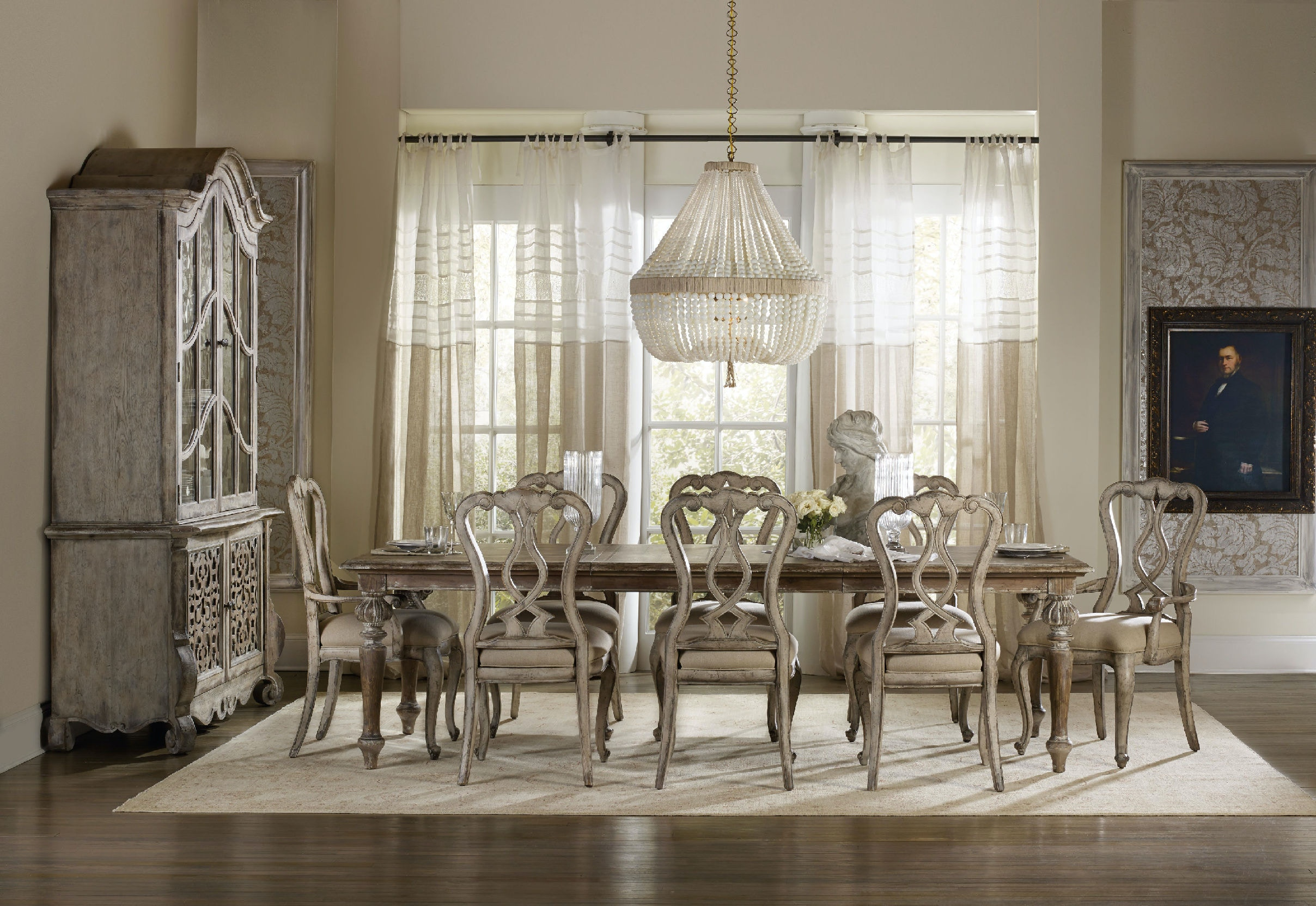 Hooker Furniture Dining Room Chatelet Rectangle Leg Dining Table ...