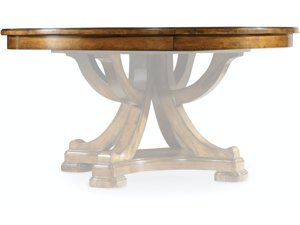 Furniture Dining Room Tynecastle 60in Round Pedestal Table Top W 1 18in Leaf Hs532375004 Walter E Smithe Design