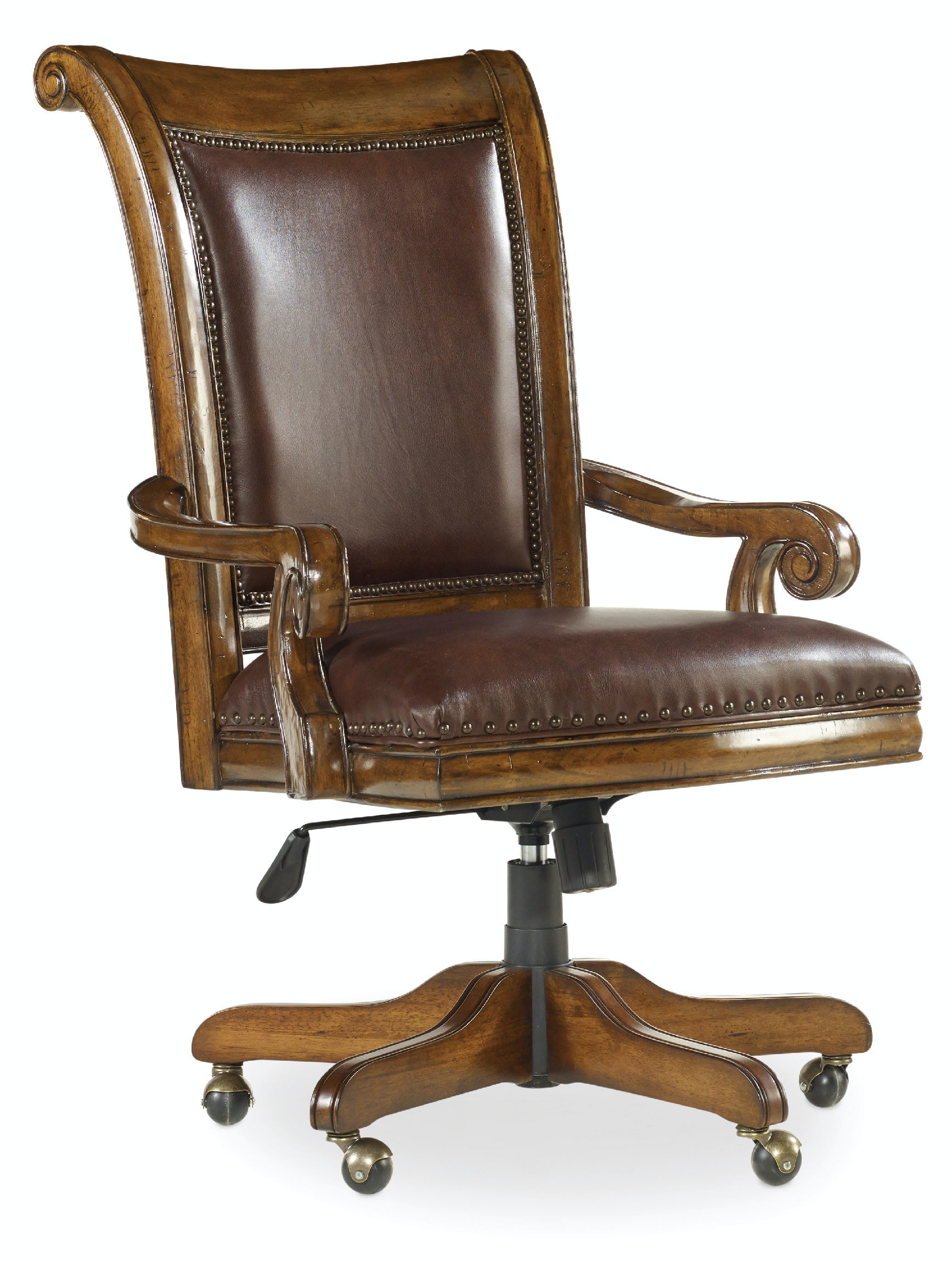 Bankers chair leather - Hooker Furniture Tynecastle Tilt Swivel Desk Chair 5323 30220