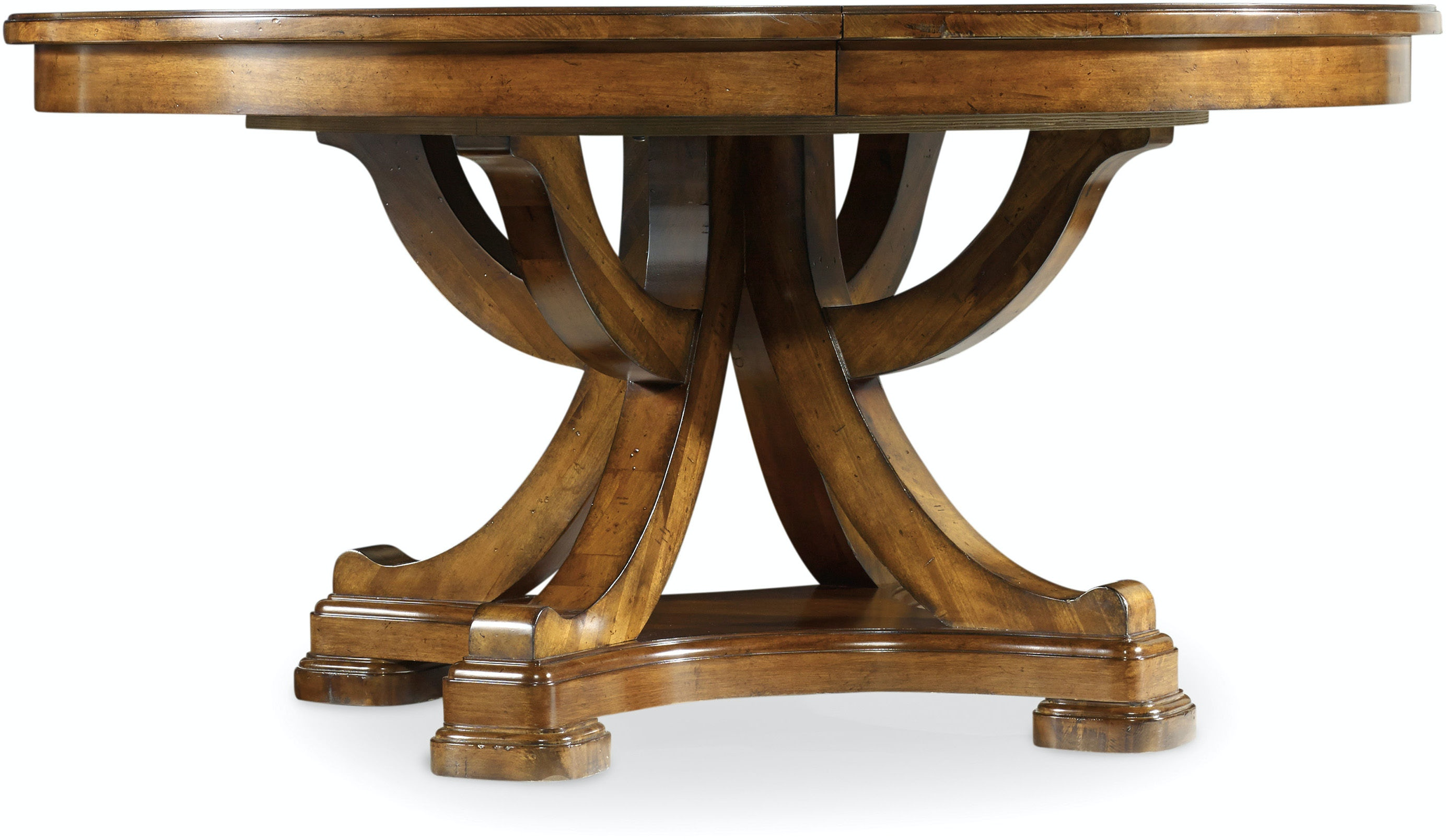 Round Pedestal Dining Table With Leaf hooker furniture tynecastle round pedestal dining table with one