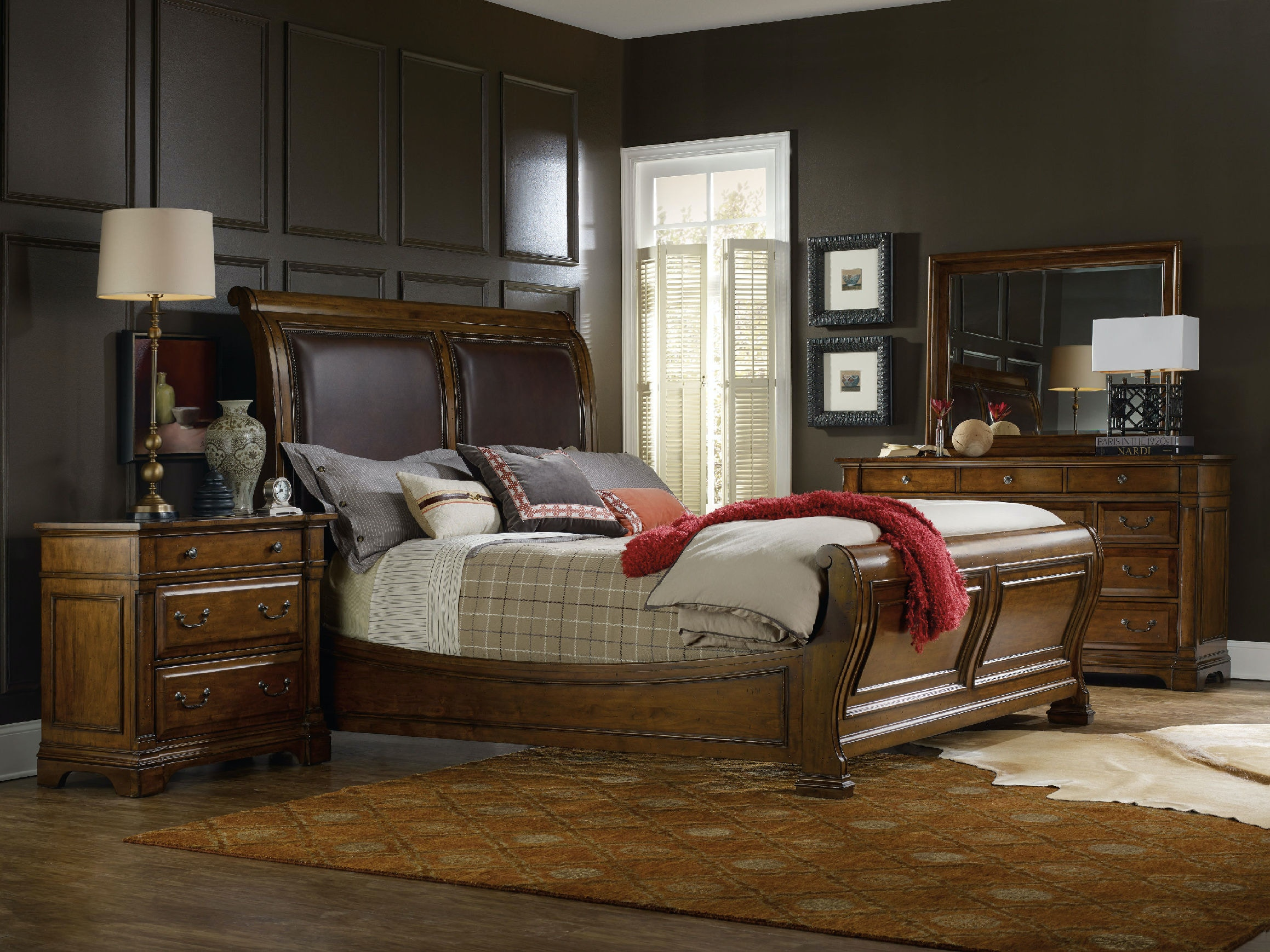 hooker furniture tynecastle king sleigh bed
