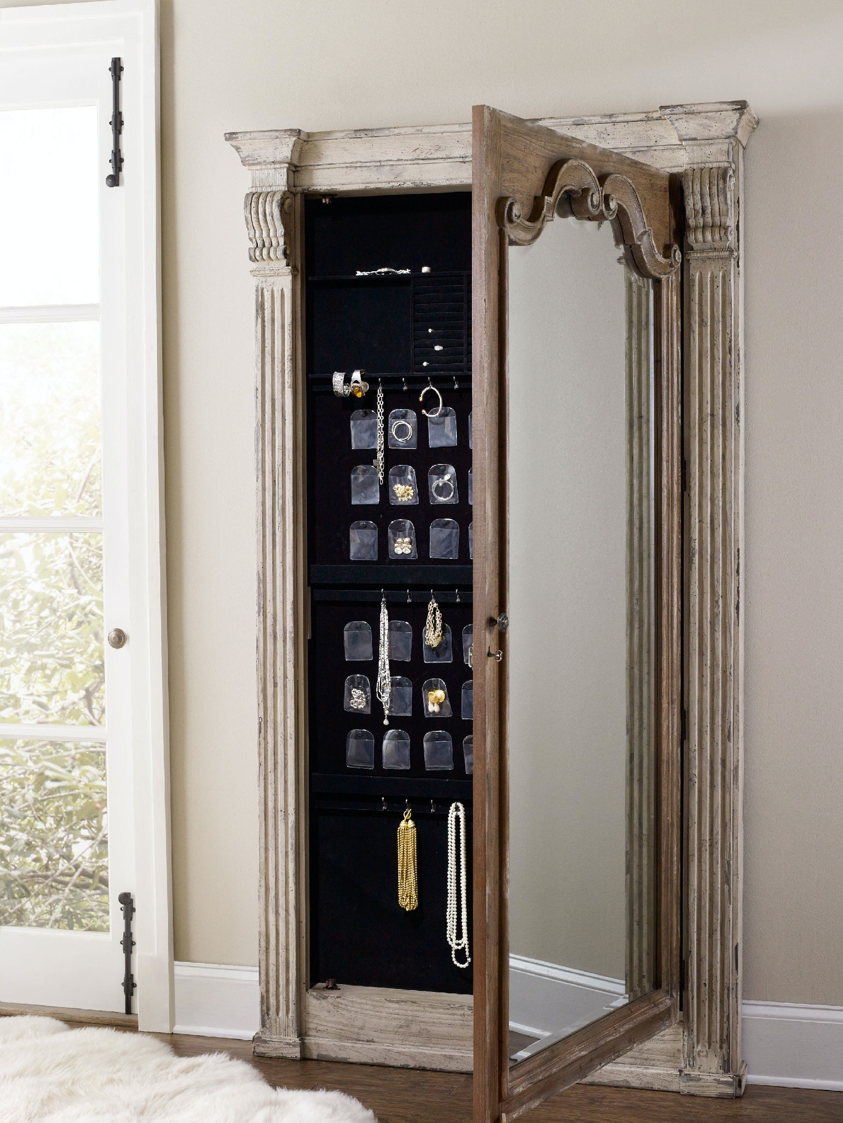 Ordinaire Hooker Furniture Chatelet Floor Mirror W/Jewelry Armoire Storage 5351 50003