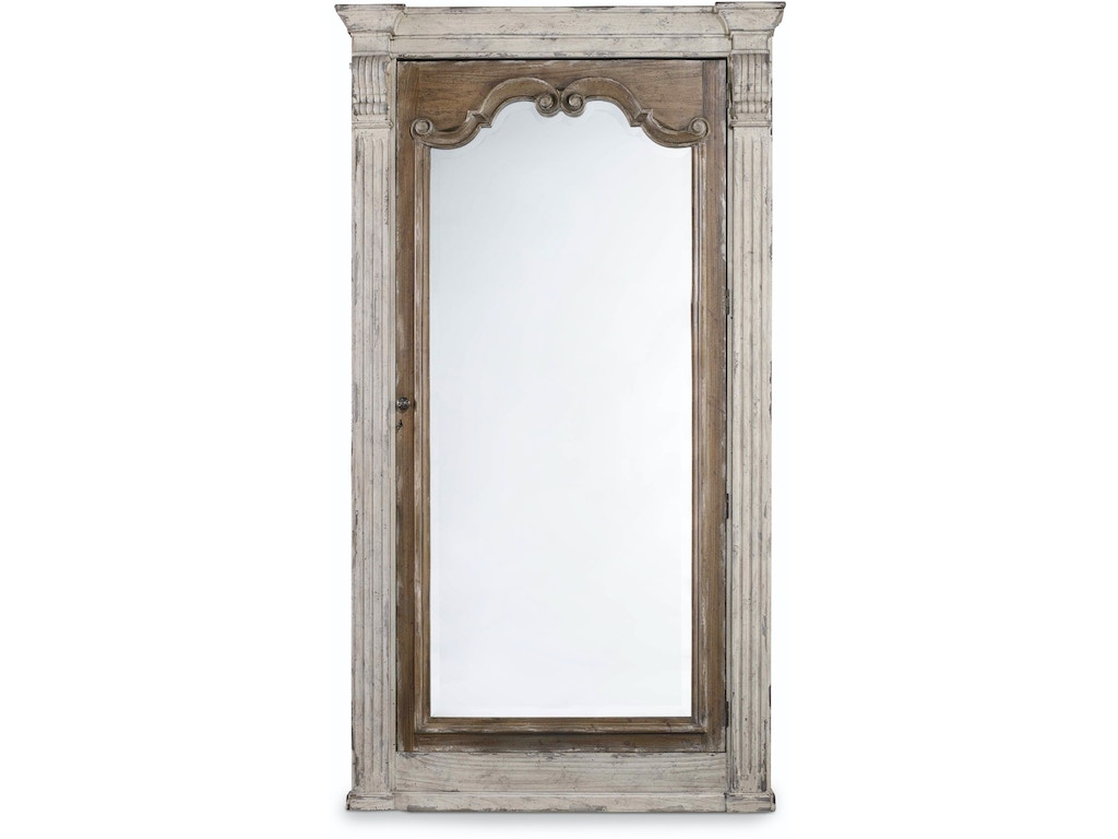 hooker furniture accessories chatelet floor mirror w jewelry armoire storage 5351 50003. Black Bedroom Furniture Sets. Home Design Ideas