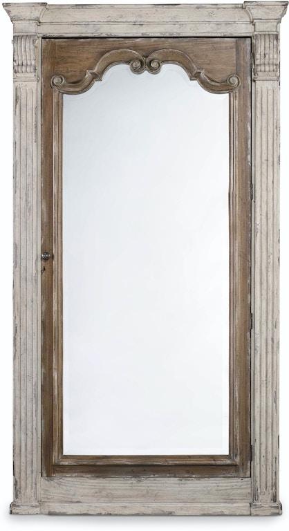 Hooker Furniture Chatelet Floor Mirror w/Jewelry Armoire Storage ...
