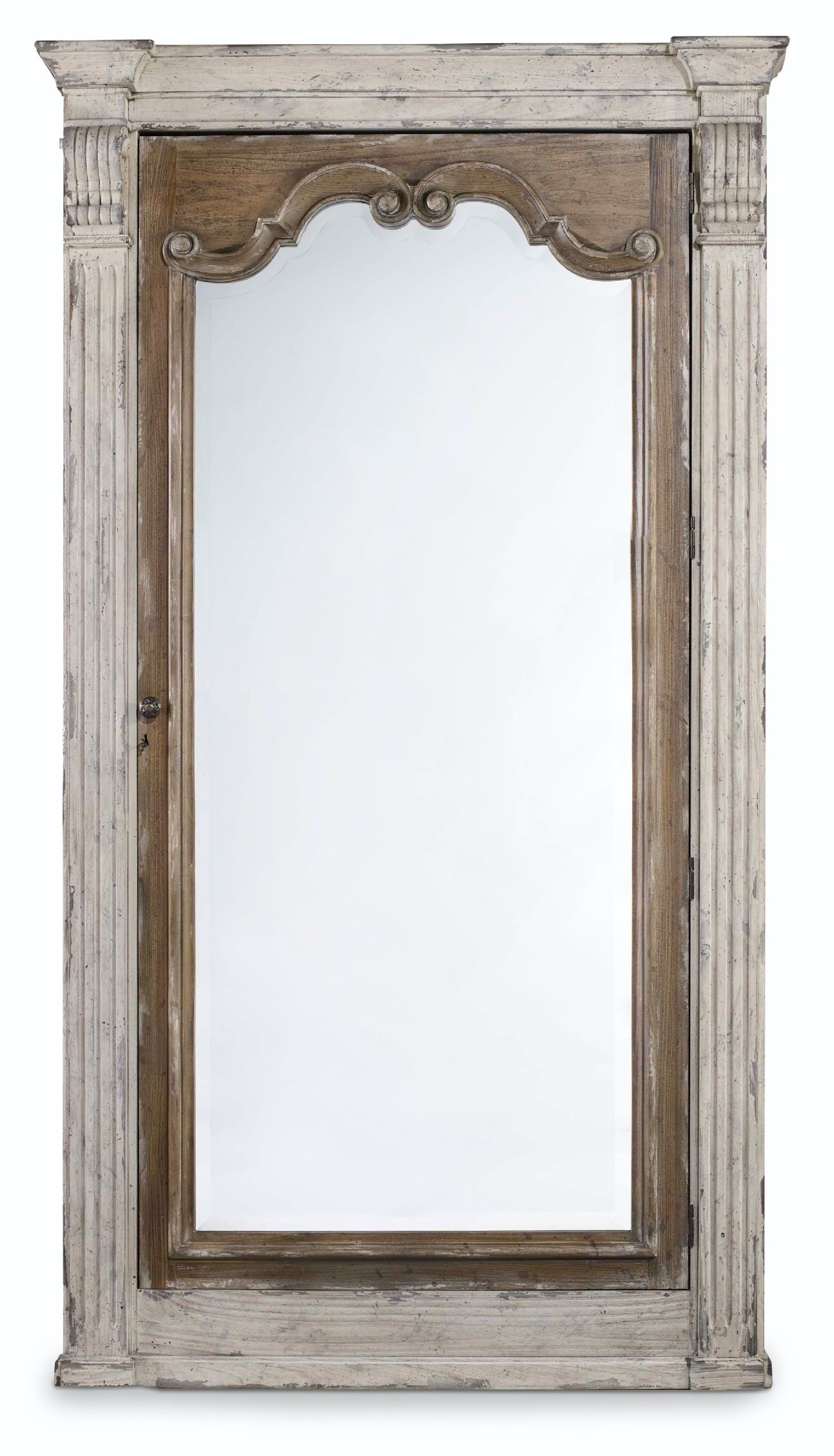 Hooker Furniture Chatelet Floor Mirror W/Jewelry Armoire Storage 5351 50003