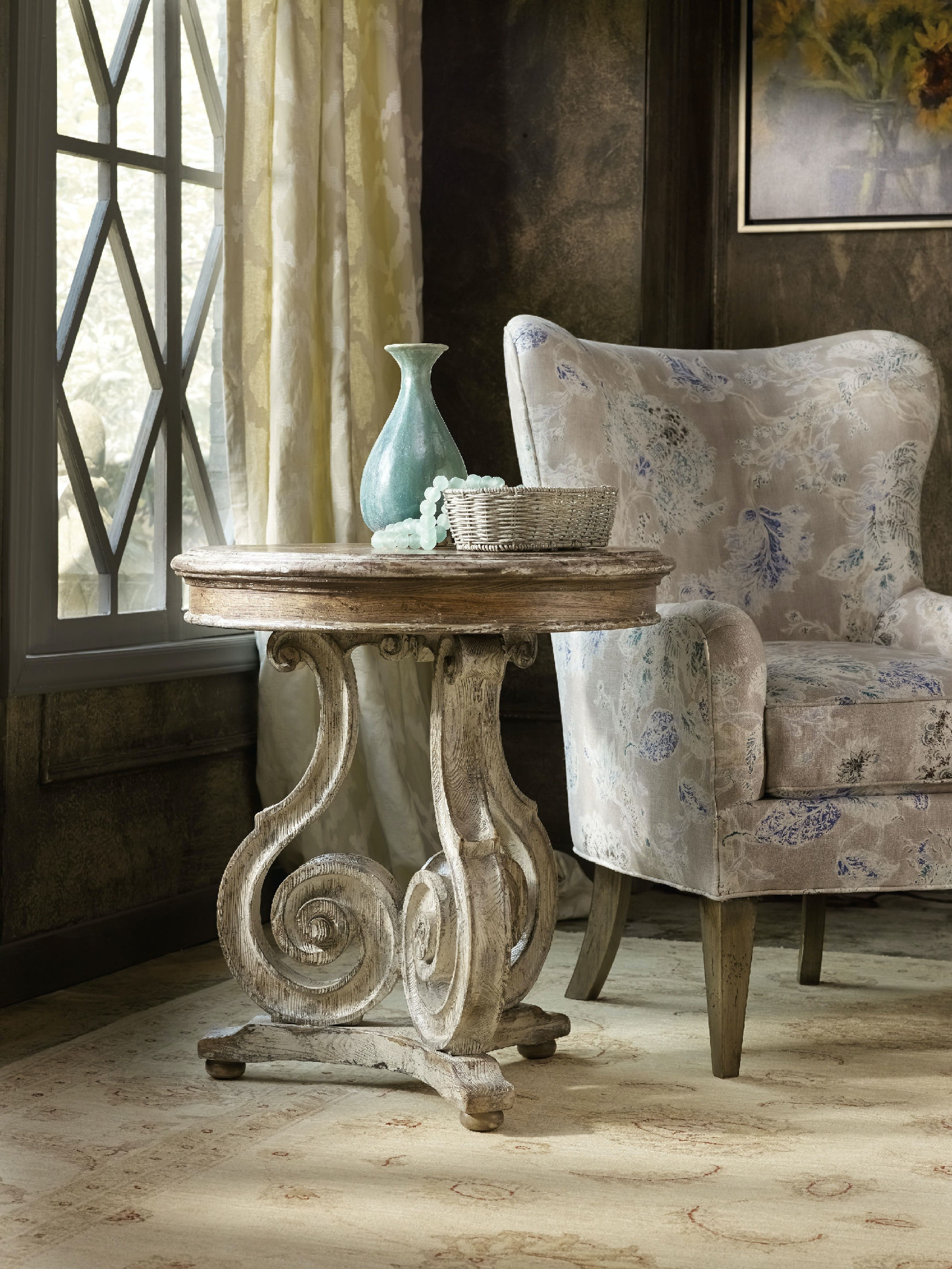 Hooker Furniture Chatelet Scroll Accent Table 5351 50002