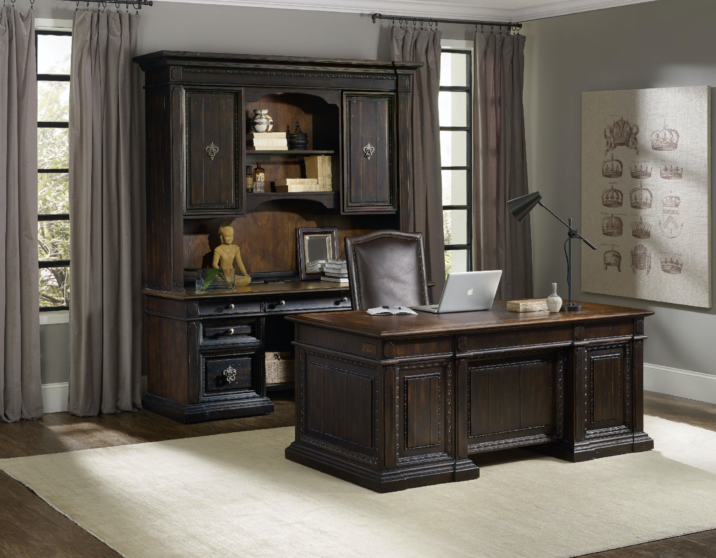 Executive Office Furniture: Hooker Furniture Home Office Treviso Executive Desk 5374-10563