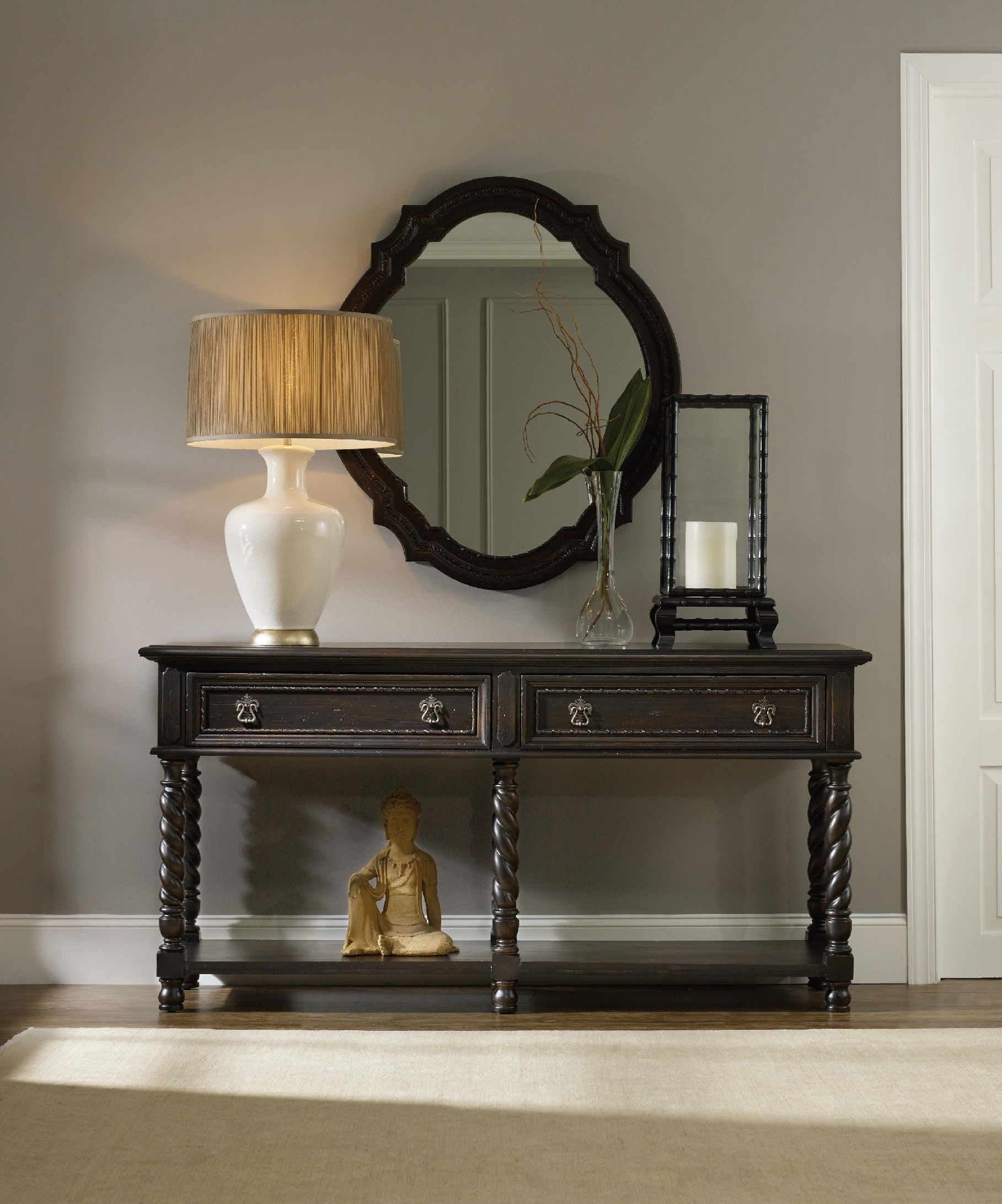 hooker furniture living room treviso console table 5374 85001. Black Bedroom Furniture Sets. Home Design Ideas