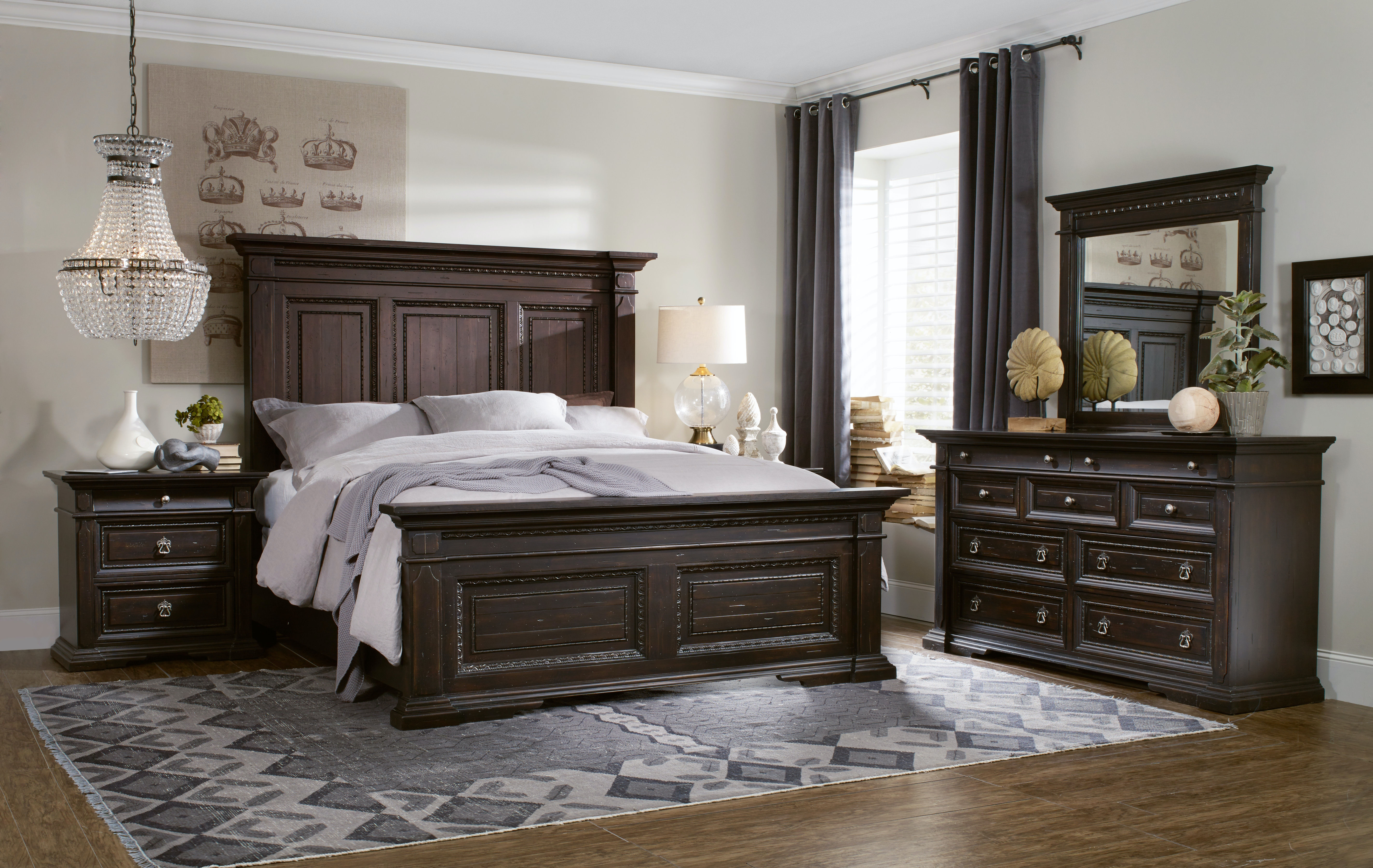 Hooker Furniture Bedroom Treviso King Panel Bed 5374-90266