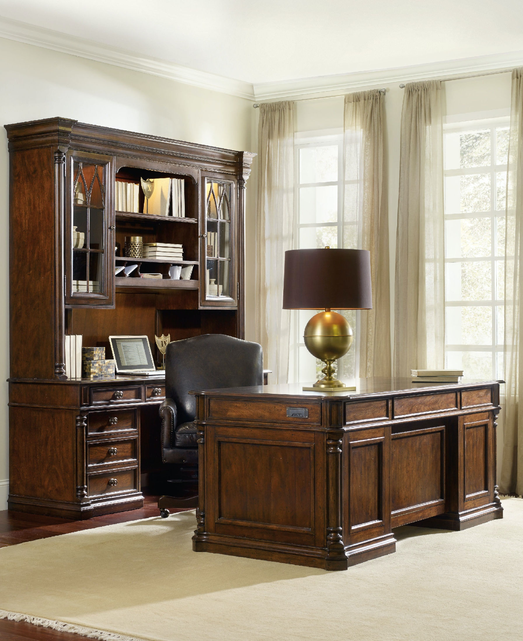 west for home desk executive own furniture your office hooker inside intended vintage chair