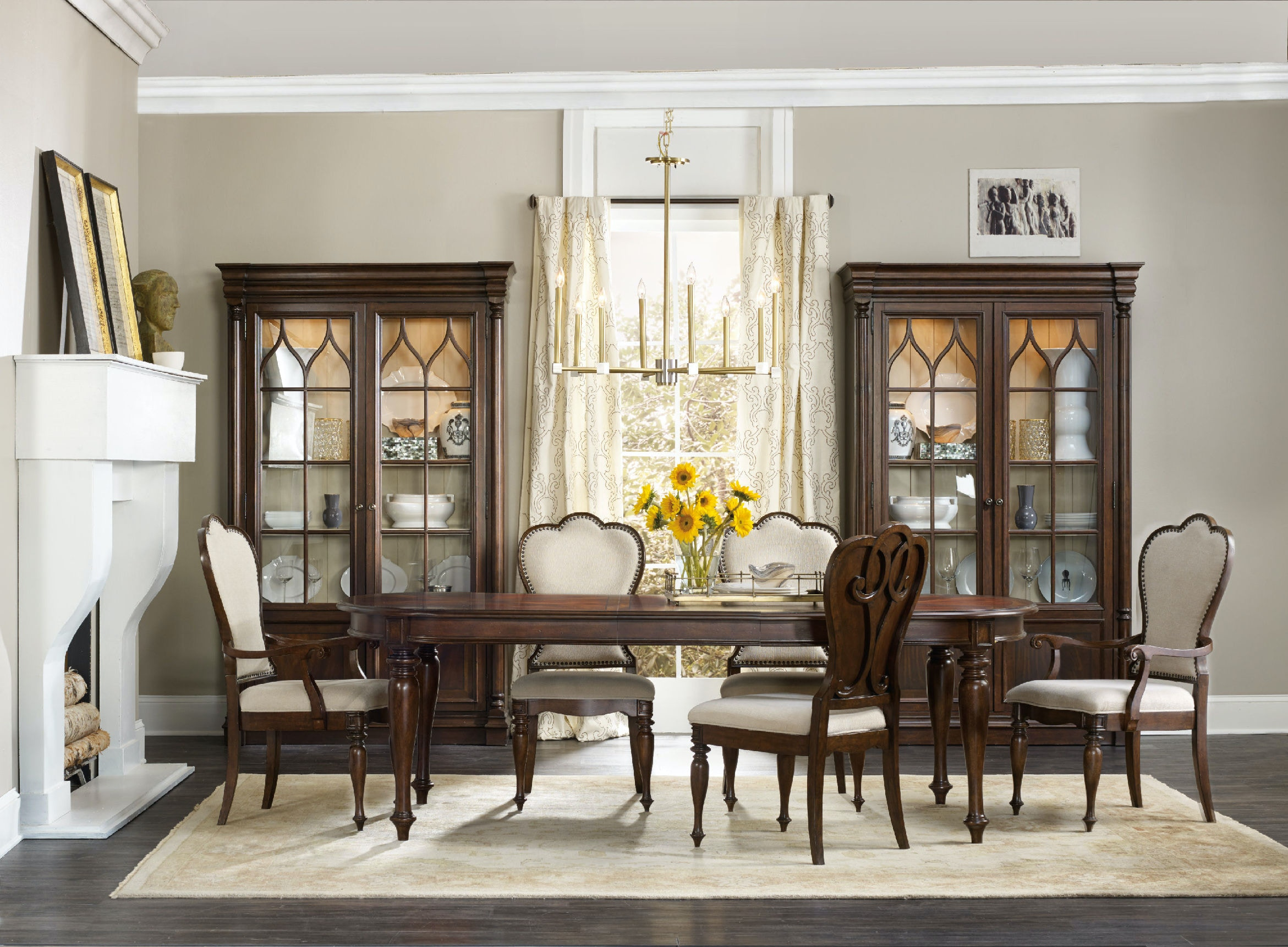 Dining Arm Chairs Upholstered hooker furniture dining room leesburg upholstered arm chair 5381-75400