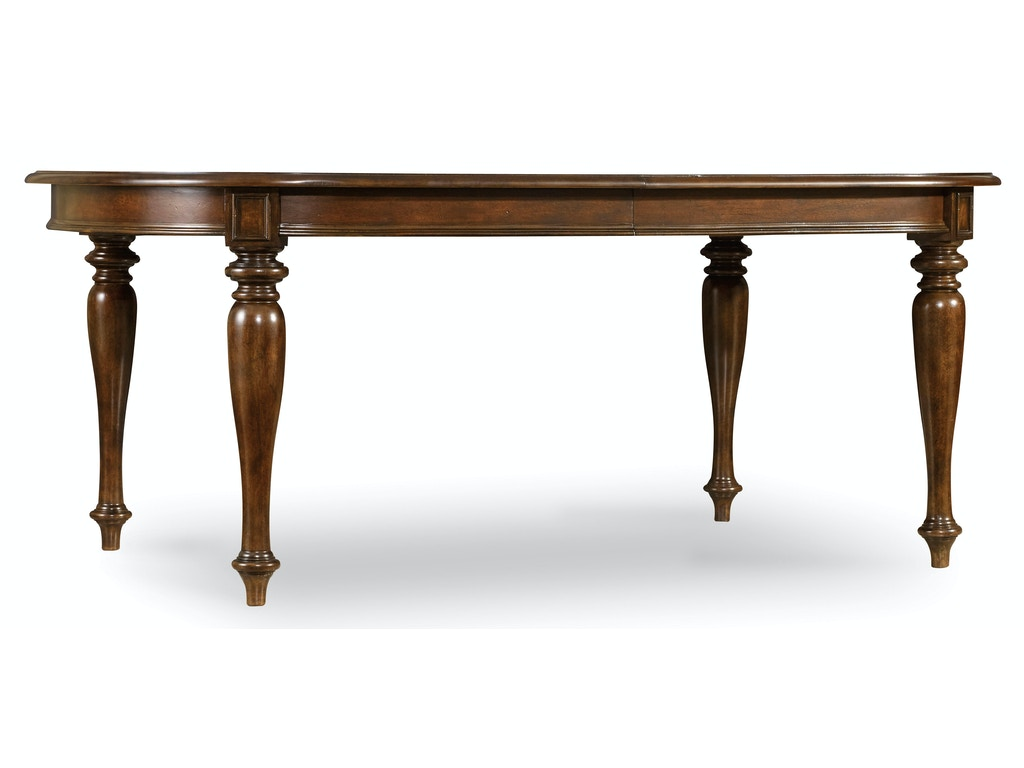Hooker furniture dining room leesburg leg table with two for Dining room table 2 leaves