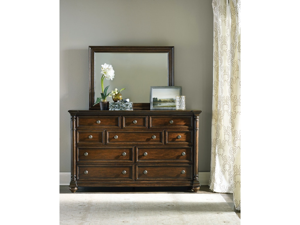 Hooker Furniture Bedroom Leesburg Dresser 5381 90002 Hickory Furniture Mart Hickory Nc