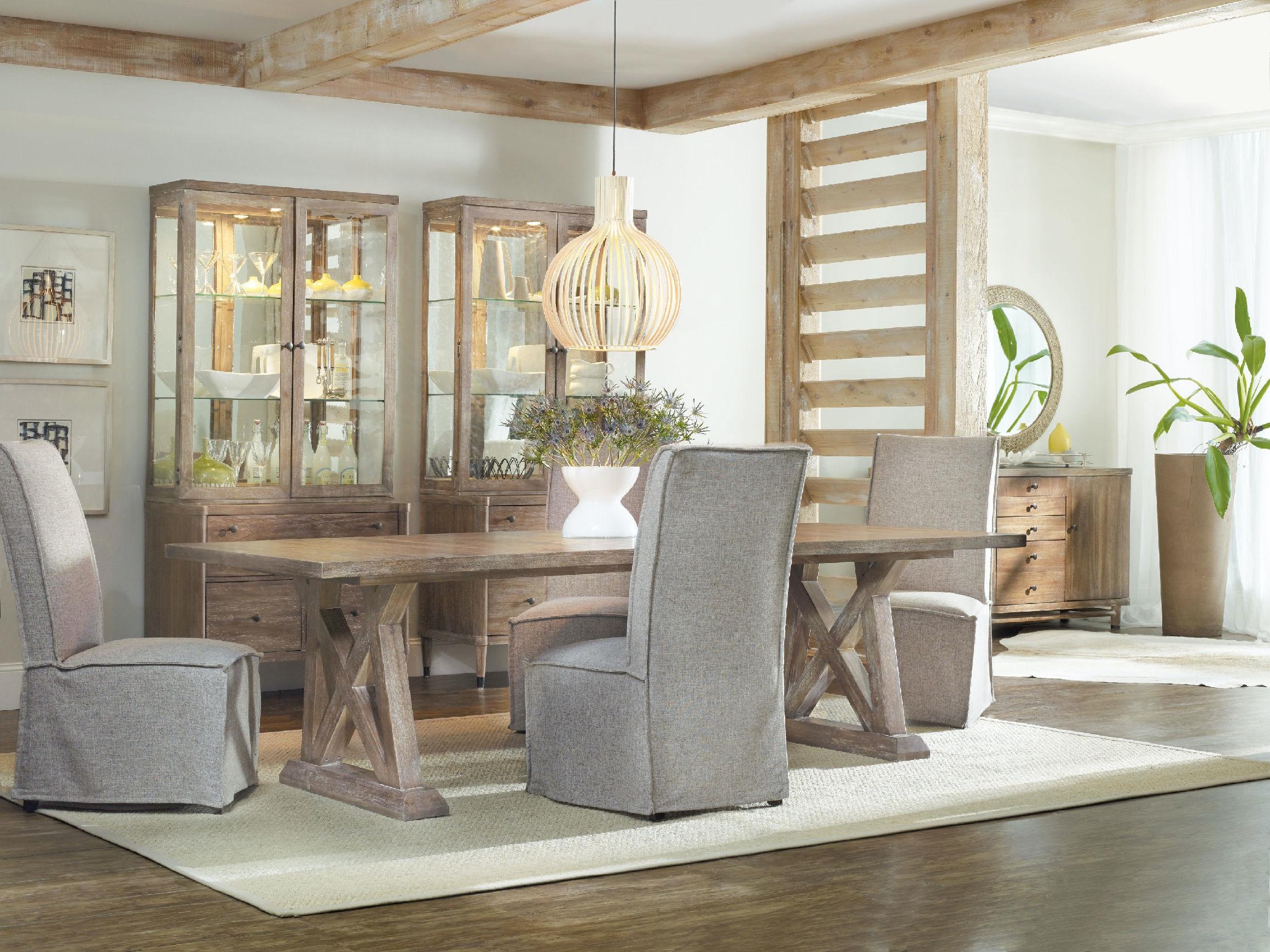 Hooker Furniture Dining Room Studio 7H Geo Trestle Dining Table 5382 ...