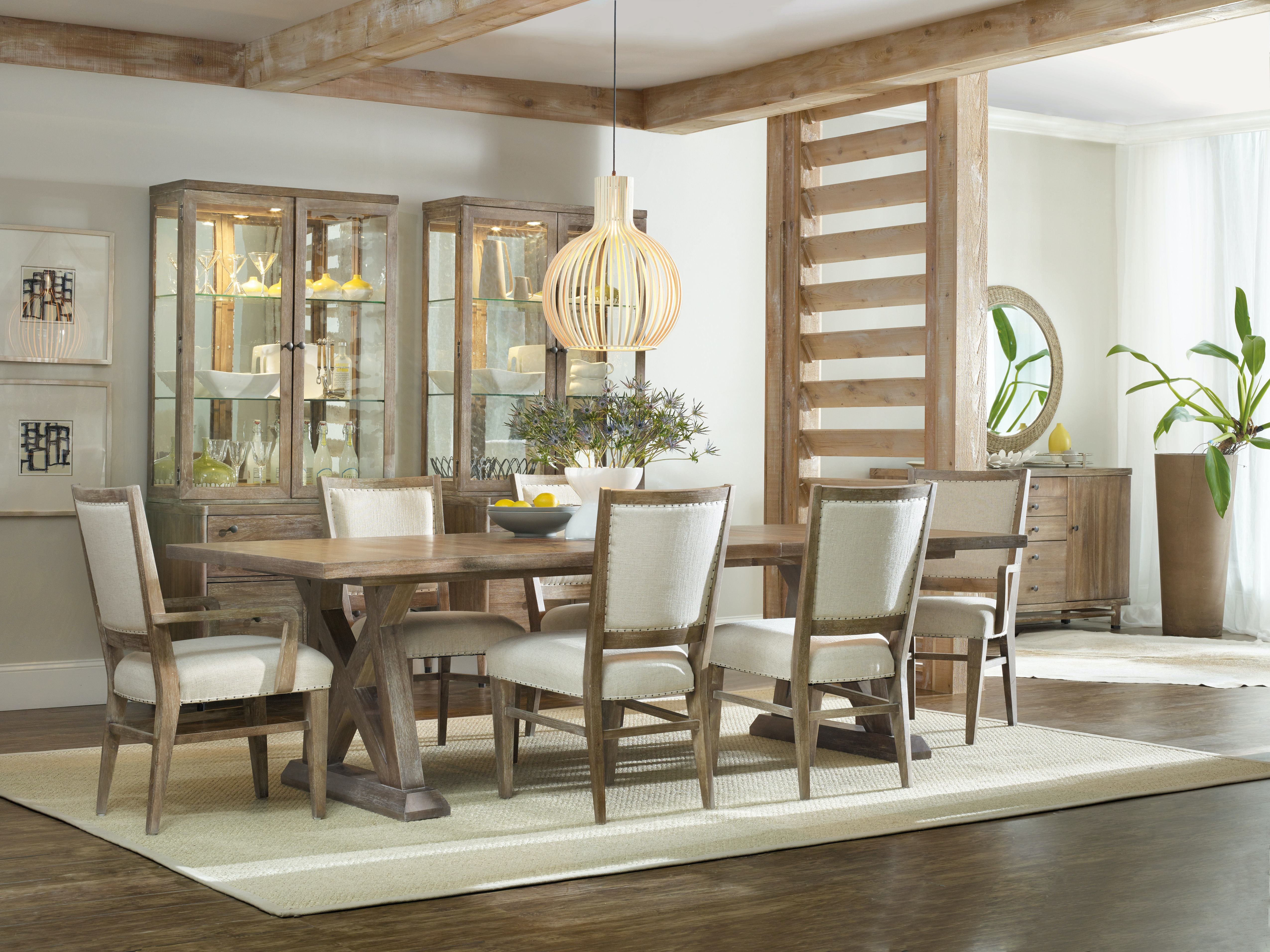 Hooker Furniture Dining Room Studio 7H Geo Trestle Dining Table ...