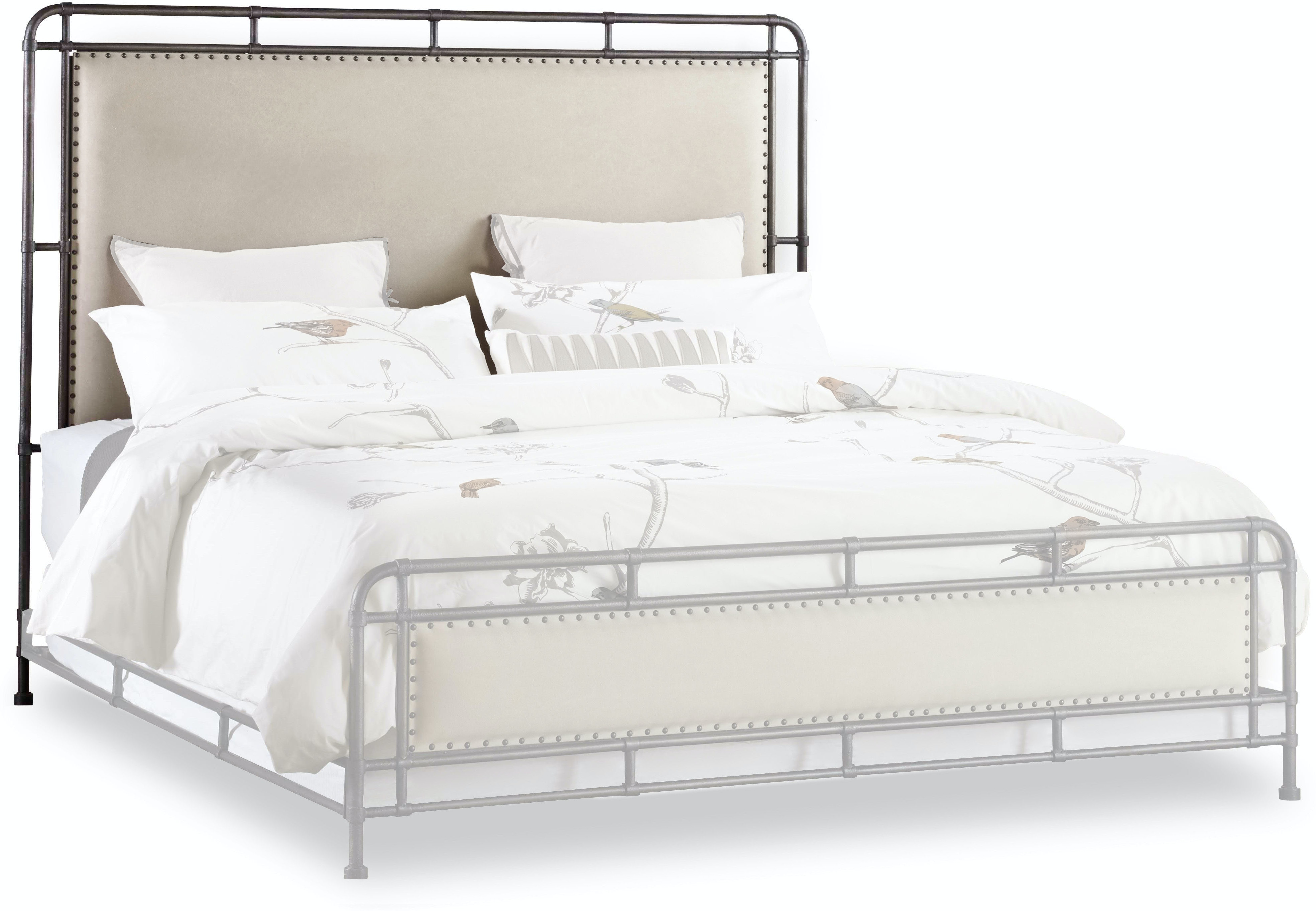 more photos 78690 fe81d Hooker Furniture Bedroom Slumbr Metal Upholstered Headboard ...