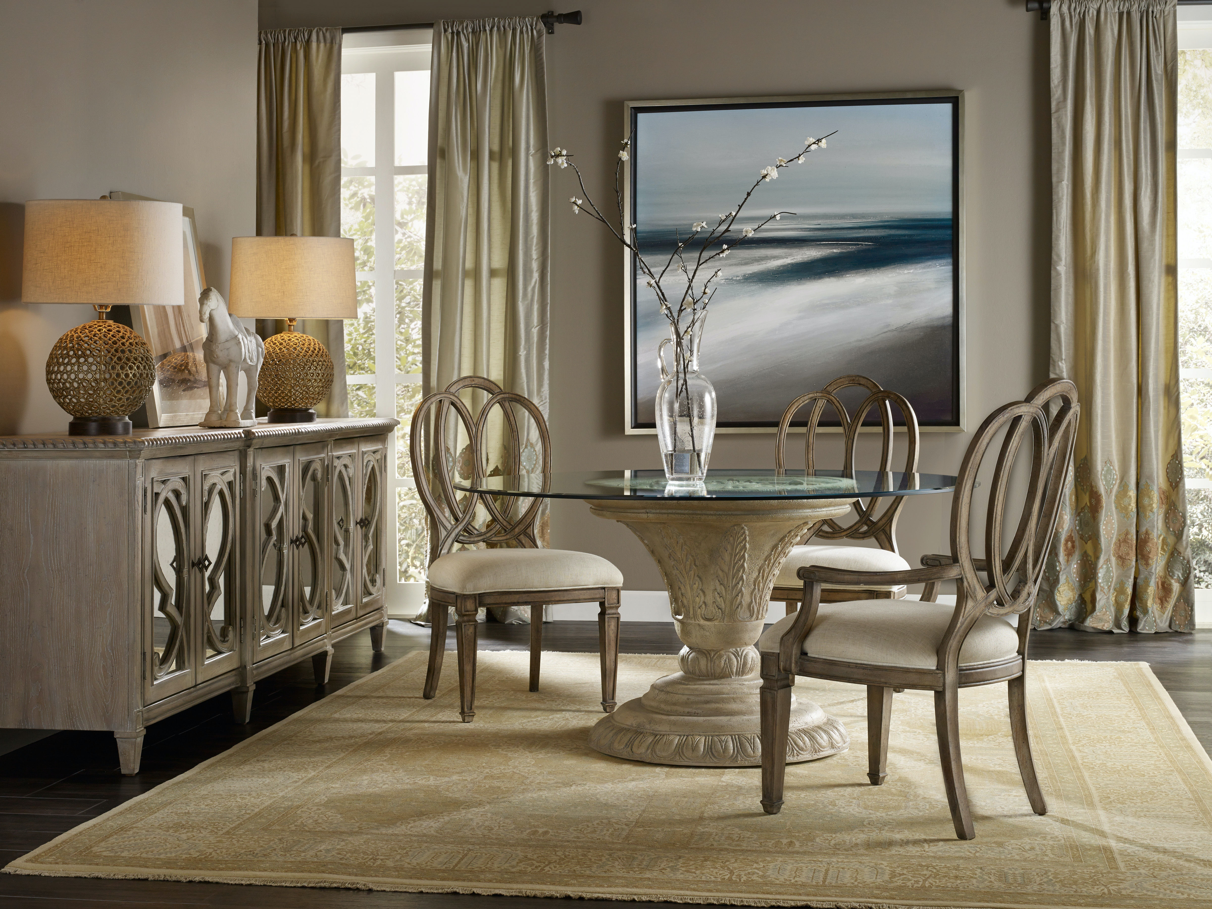 Hooker Furniture Dining Room Solana Round Dining Table Base 5391