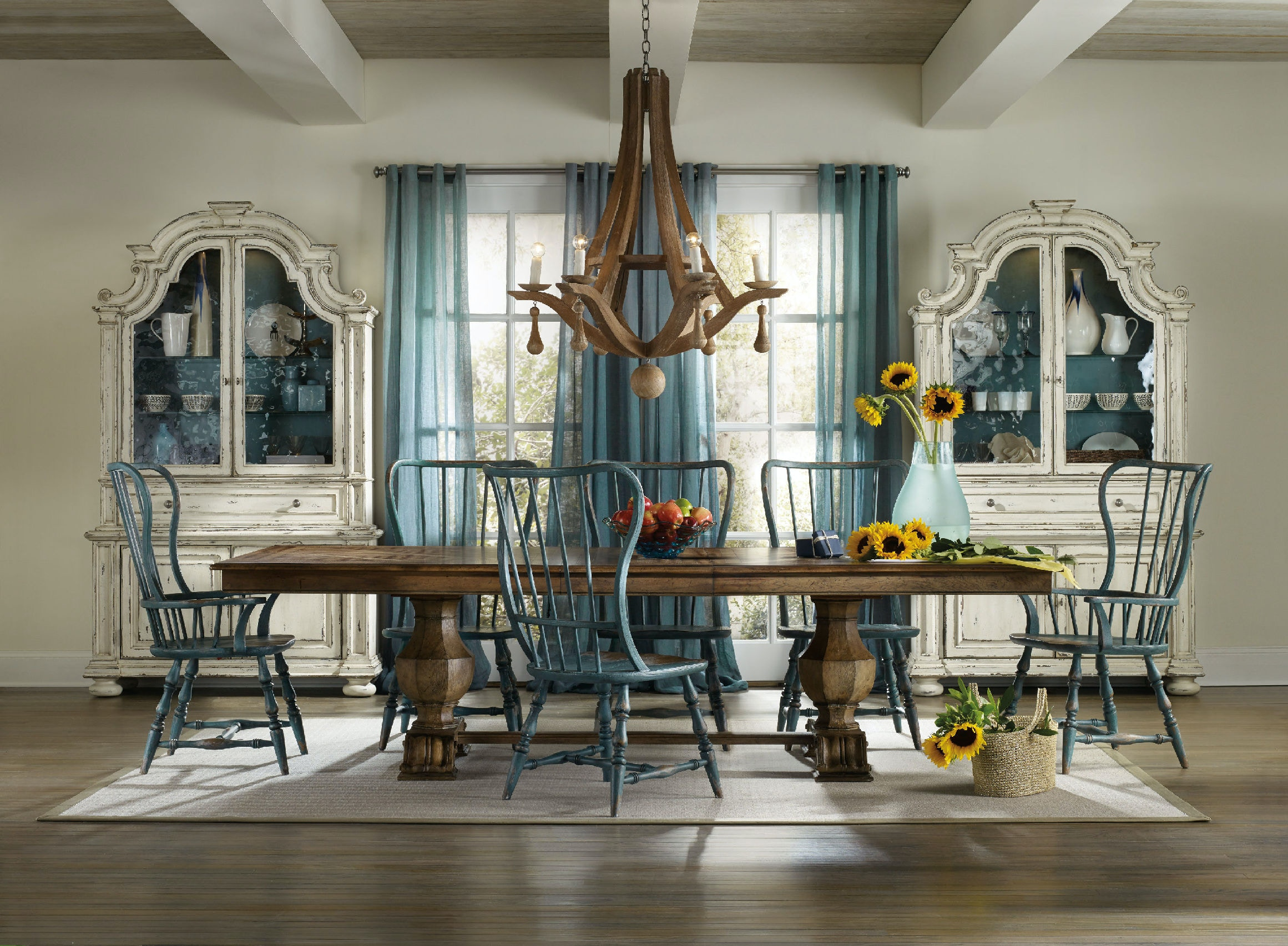 Hooker Furniture Sanctuary Rectangle Trestle Table 5401 75206