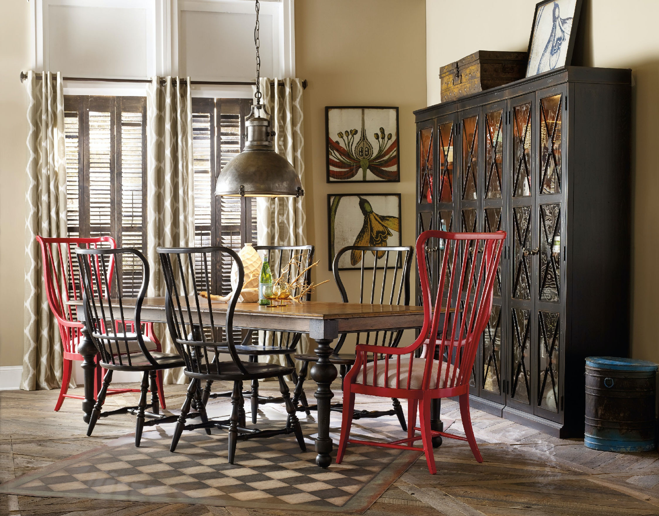 Hooker Furniture Dining Room Sanctuary Tall Spindle Arm Chair 5404