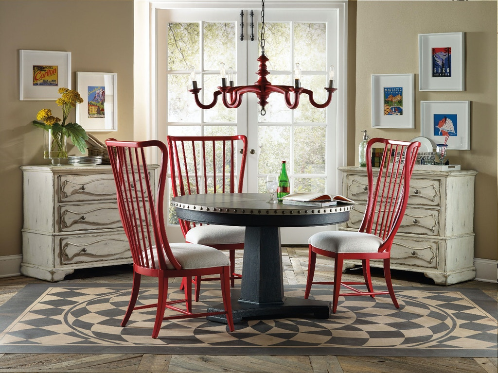 Hooker Furniture Dining Room Sanctuary Round Aluminum Dining Table 5402 75203