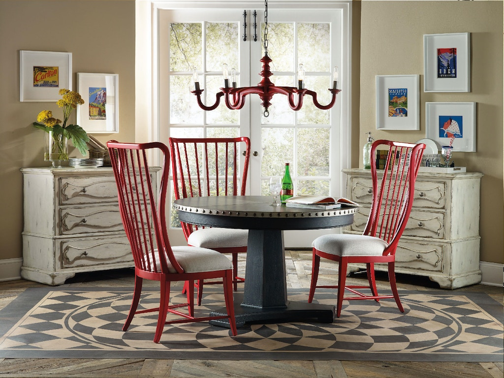 Hooker Furniture Dining Room Sanctuary Round Aluminum