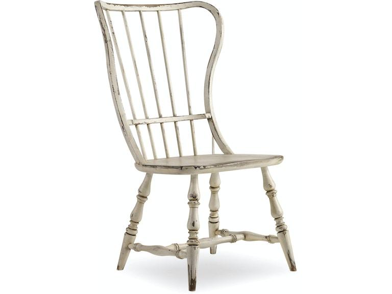 hooker furniture dining room sanctuary spindle back side chair 5403