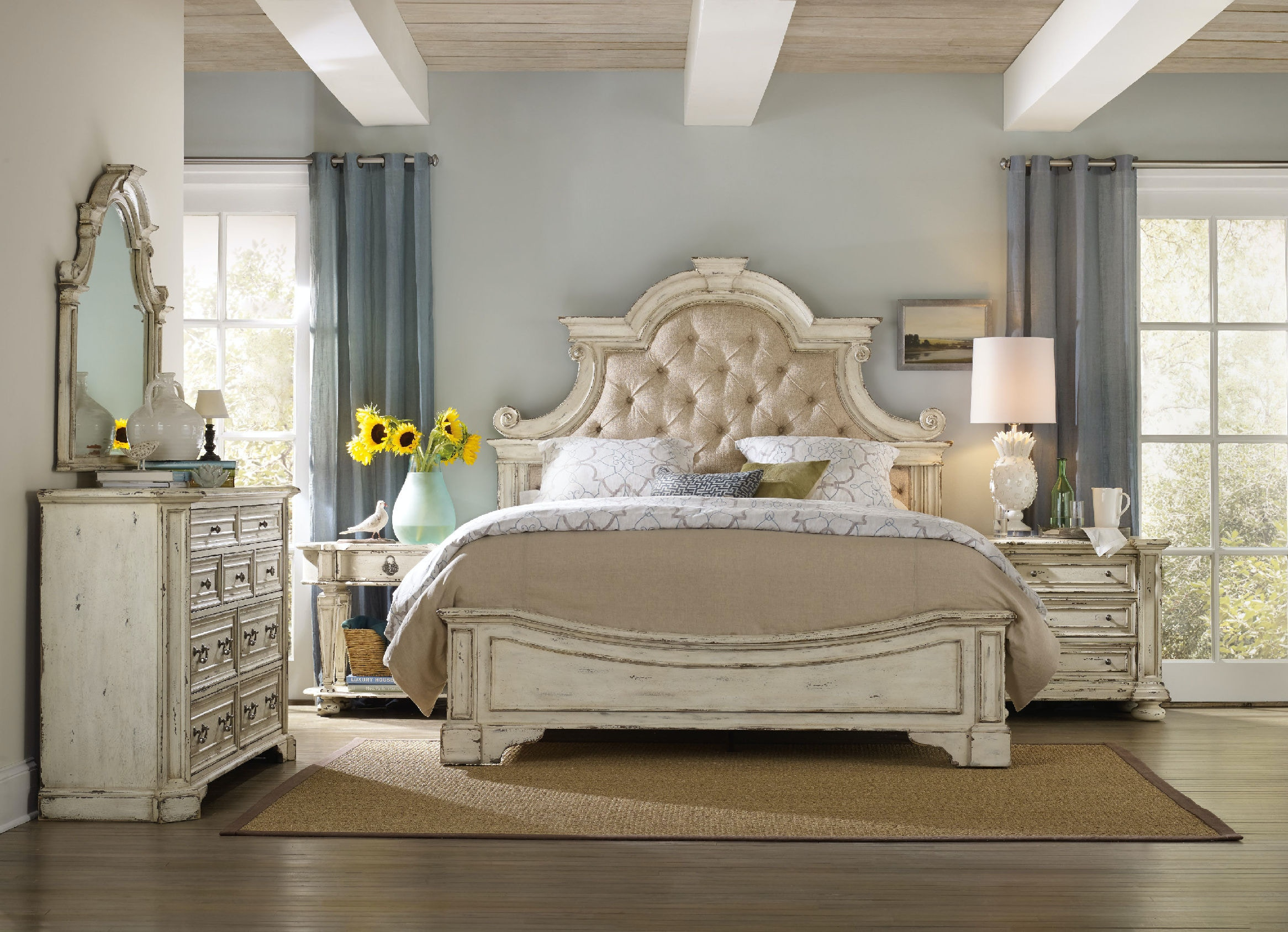 hooker furniture sanctuary king upholstered bed