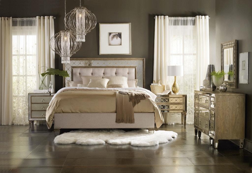 platform hooker furniture bedroom bed upholstered sanctuary product set traditional