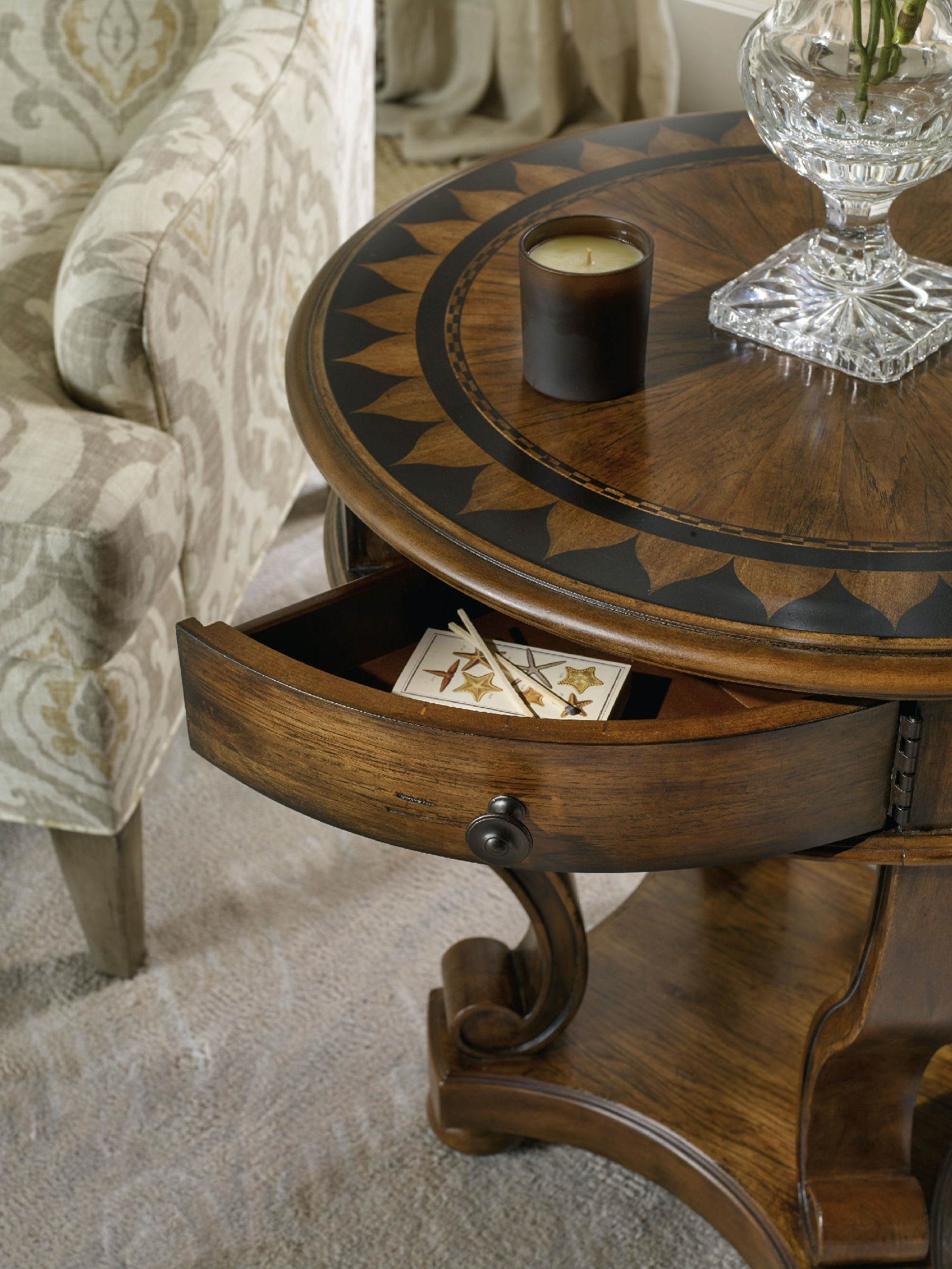 Hooker Furniture Archivist Round Accent End Table 5447 50001