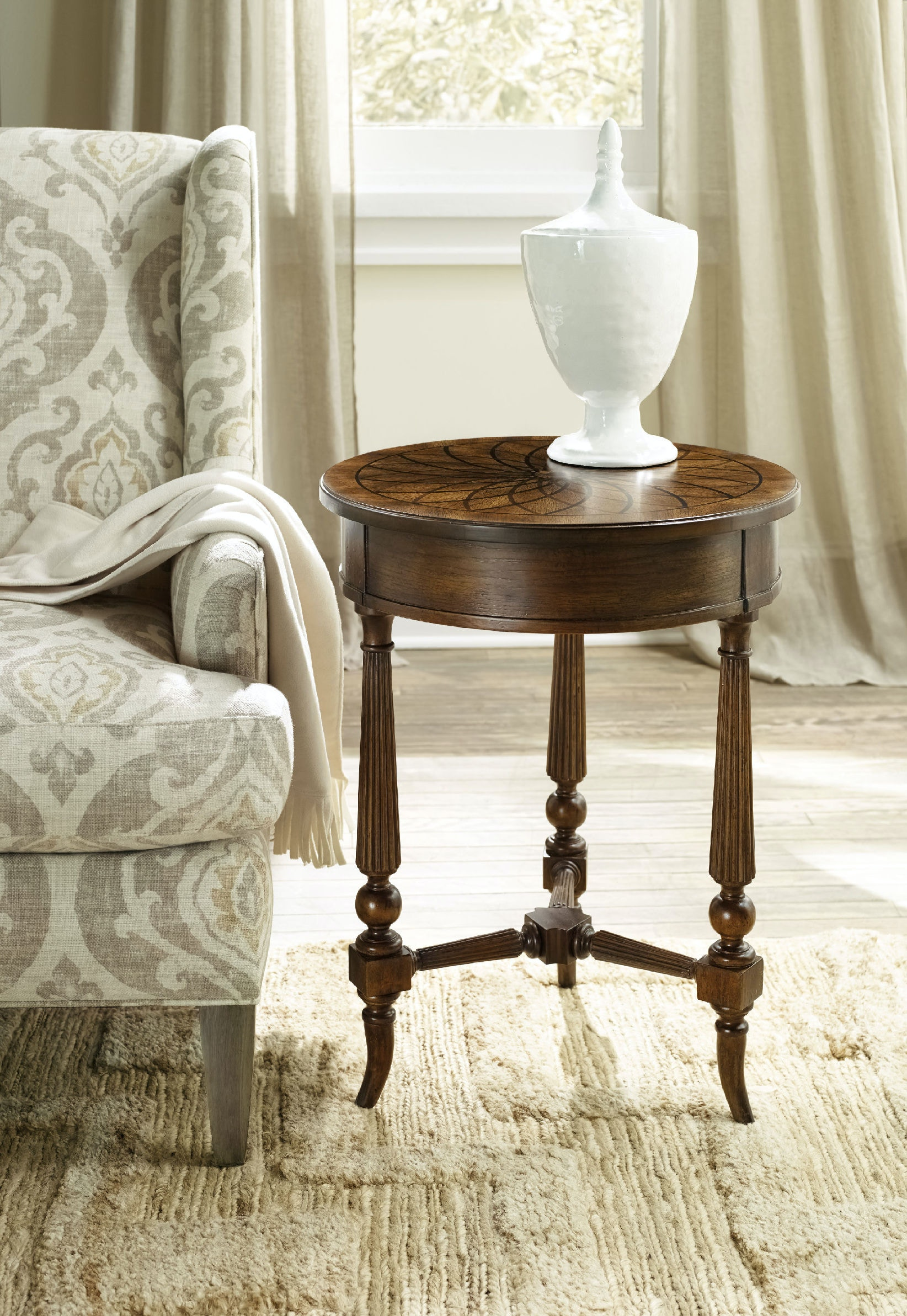 Hooker Furniture Living Room Archivist Round Accent Table 5447